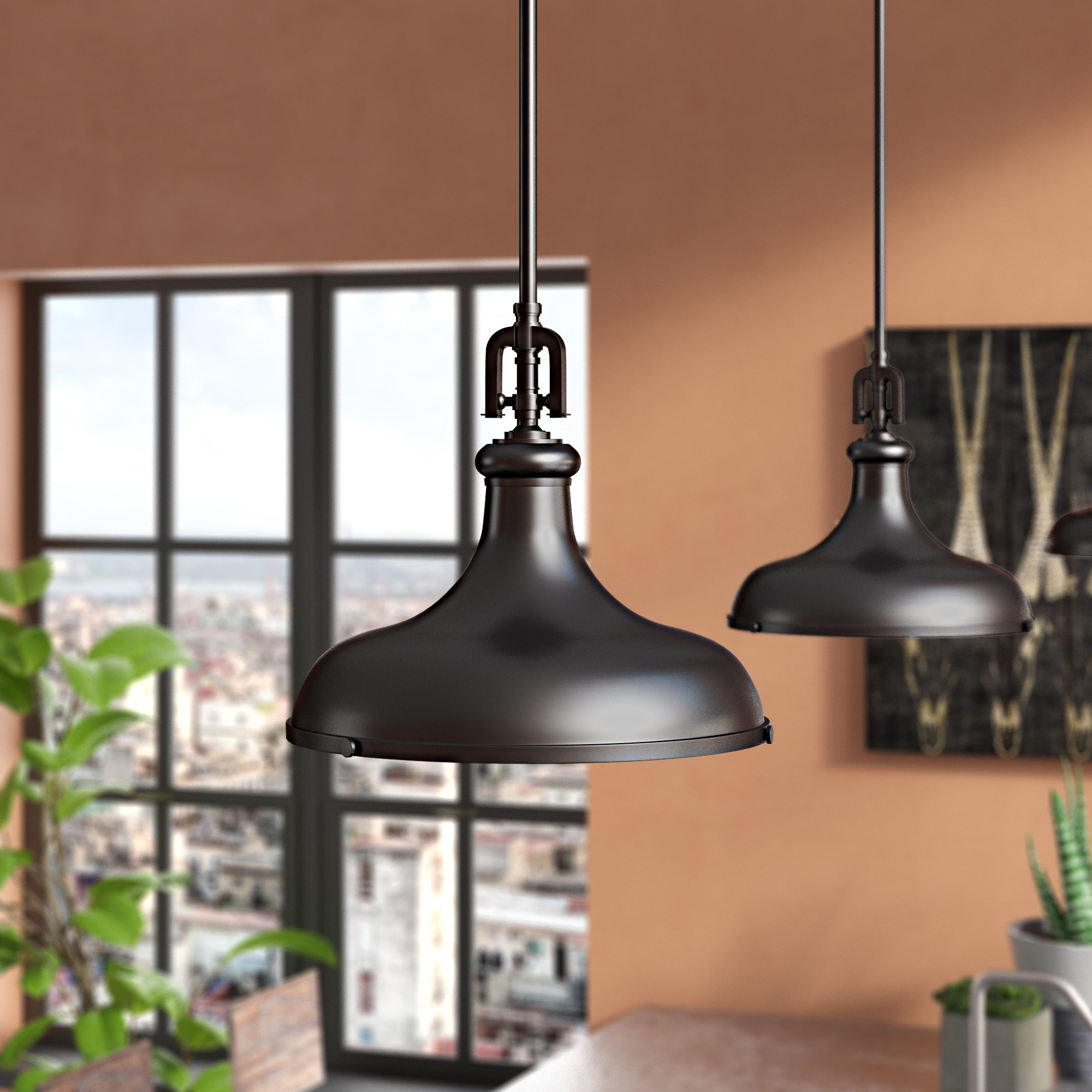 Macon 1 Light Single Dome Pendants Intended For Well Liked Rockridge 1 Light Single Dome Pendant (Gallery 6 of 20)