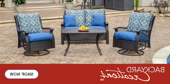 Madison Avenue Patio Sectionals With Sunbrella Cushions Inside 2020 Patio Furniture At Menards® (View 11 of 20)