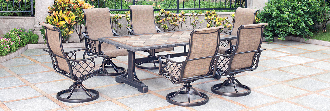 Madison Avenue Patio Sectionals With Sunbrella Cushions Intended For Trendy Patio Furniture At Menards® (Gallery 12 of 20)