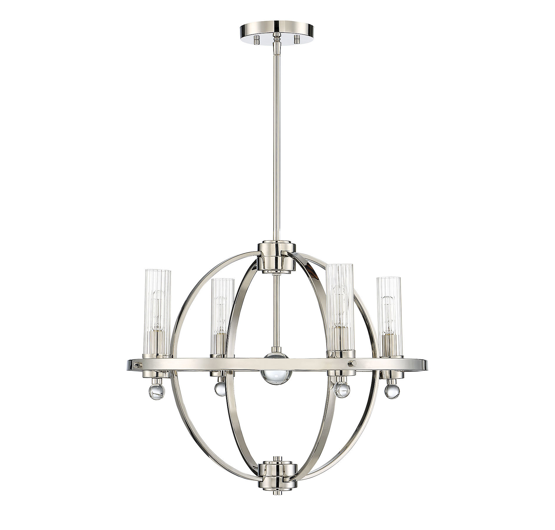 Madrigal 4 Light Globe Chandelier Intended For Most Recent Gregoire 6 Light Globe Chandeliers (Gallery 20 of 20)