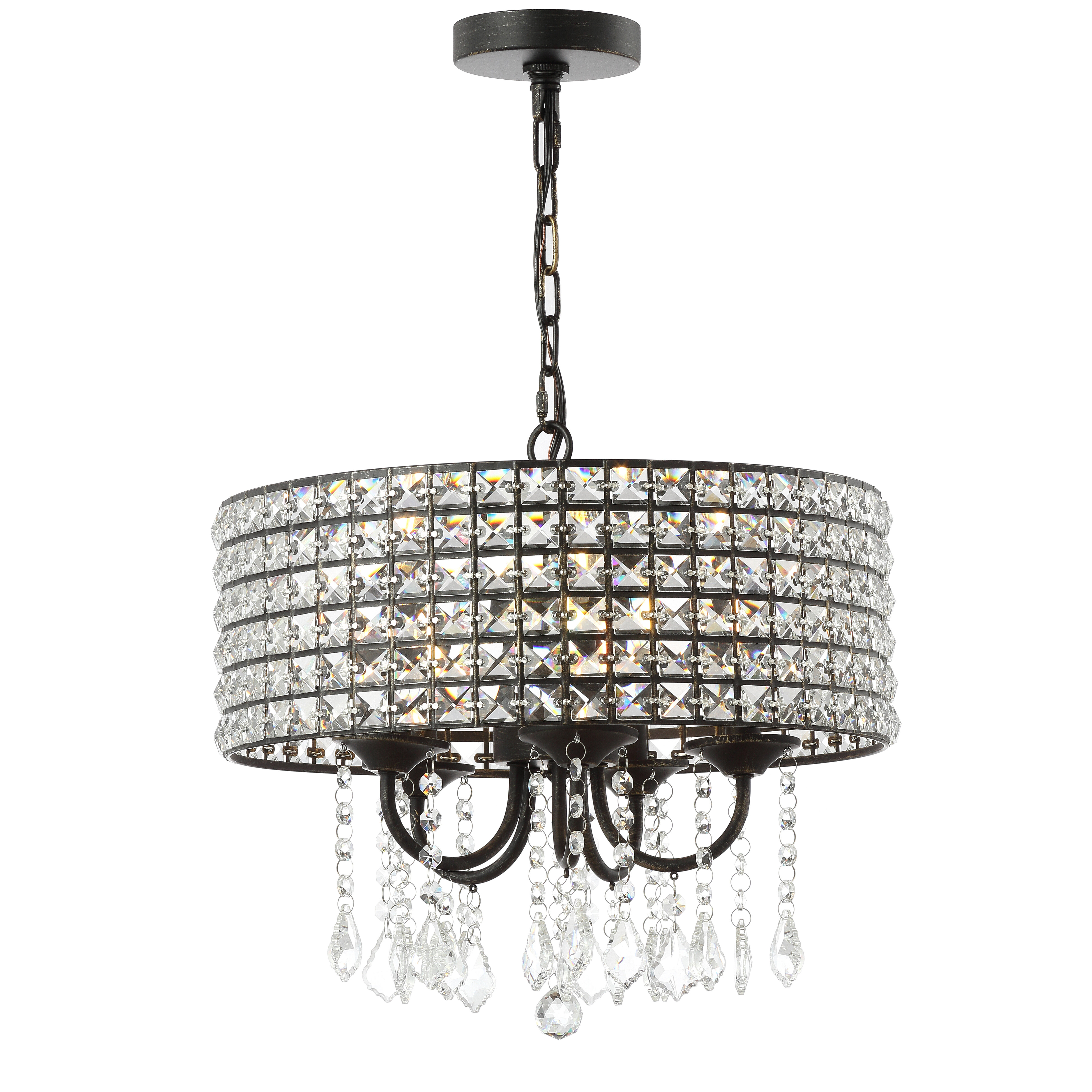 Mae 5 Light Drum Chandelier In Well Known Mckamey 4 Light Crystal Chandeliers (View 19 of 20)