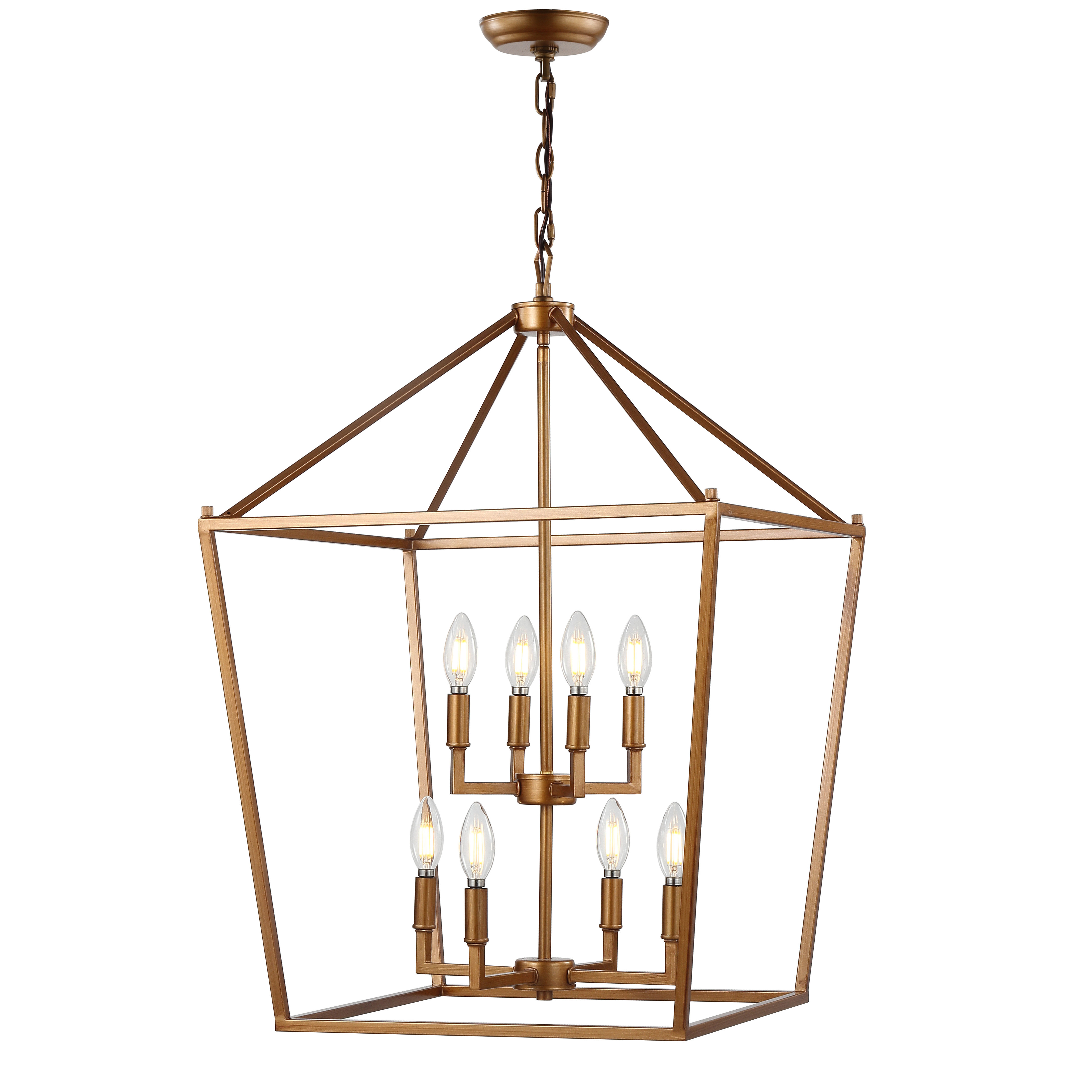 Maggiemae 8 Light Lantern Pendant For Most Up To Date Carmen 8 Light Lantern Tiered Pendants (View 9 of 20)