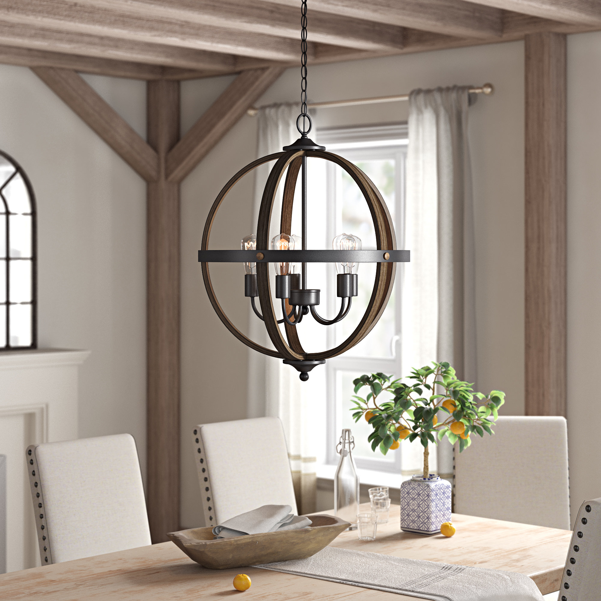 Makeba 5 Light Globe Chandelier Within Best And Newest Filipe Globe Chandeliers (View 13 of 20)