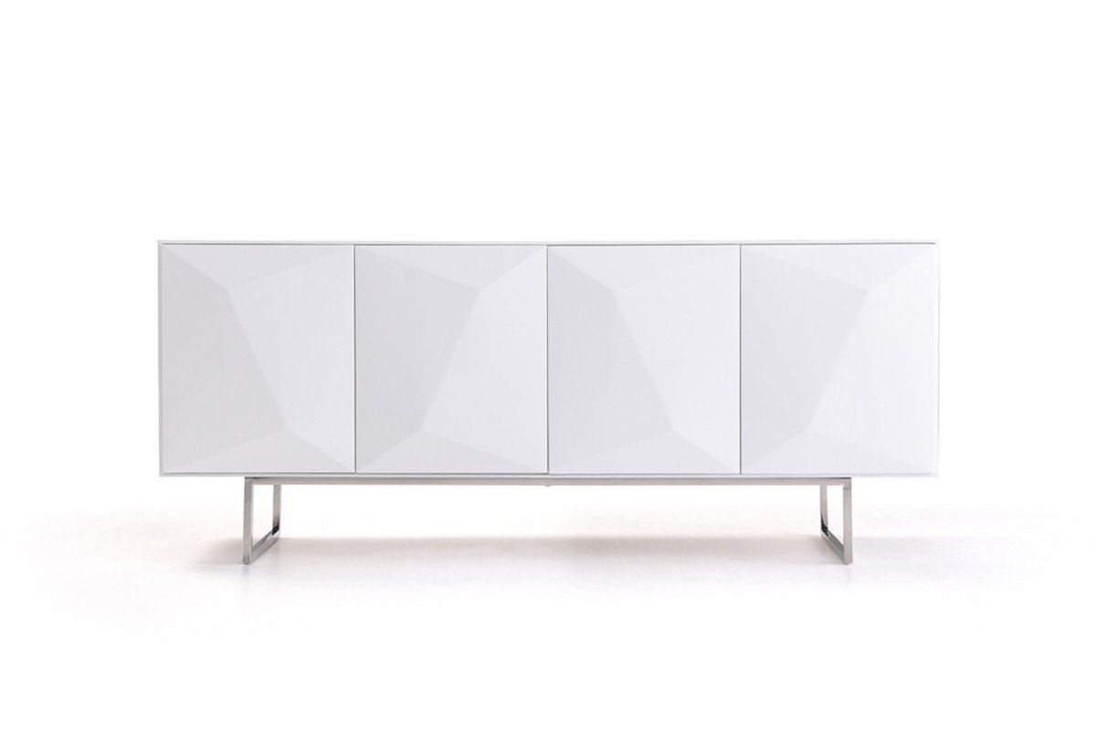 Malcom Buffet Table Within Trendy Vig Furniture Vgvcg1108 Wht Modrest Vanguard – Modern White (Gallery 14 of 20)