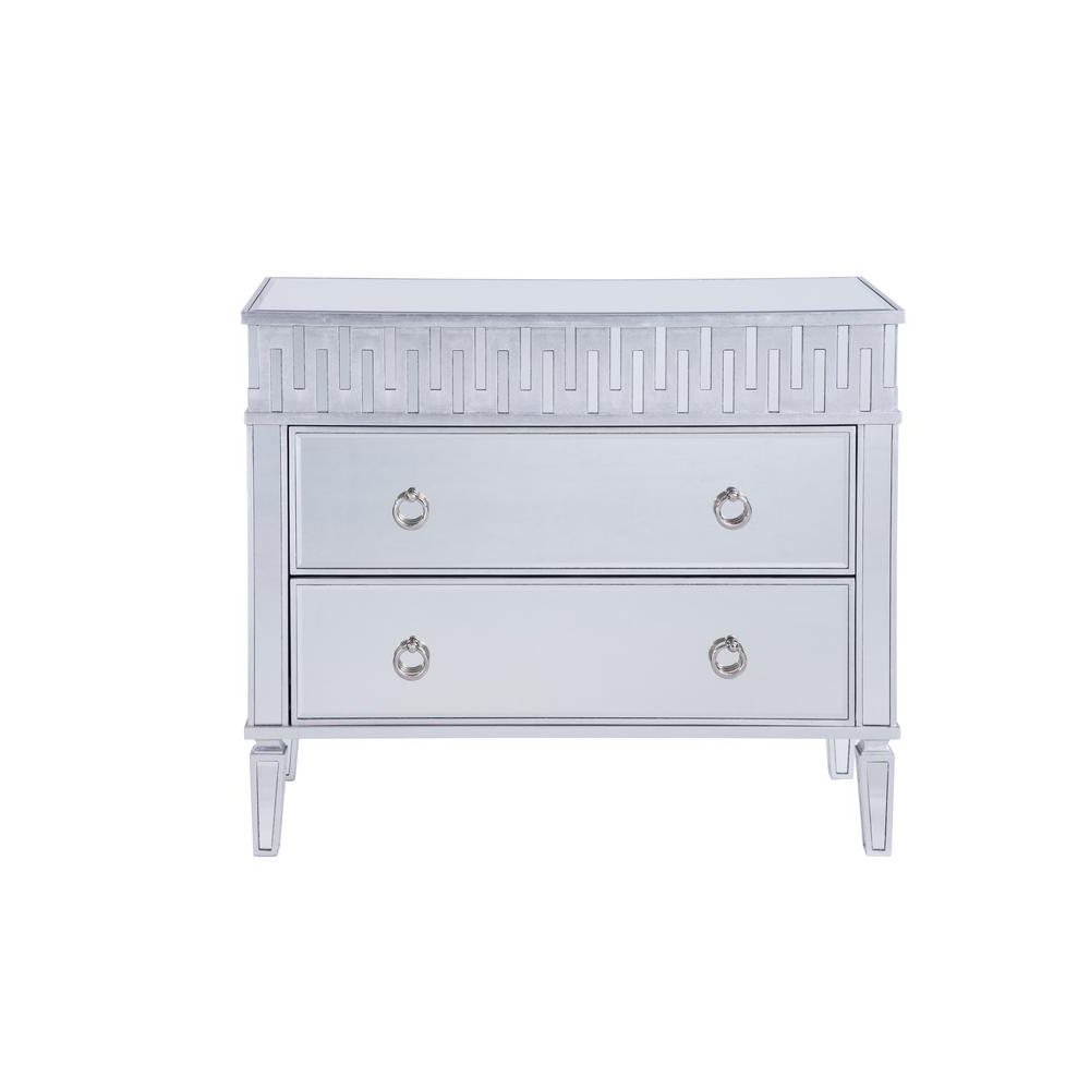 Malibu 2 Door 1 Drawer Sideboards In Well Liked Rhodes Assembled 40X34X18 In. Base Cabinet With 2 Drawers In Hand Rubbed  Antique Silver (Gallery 15 of 20)