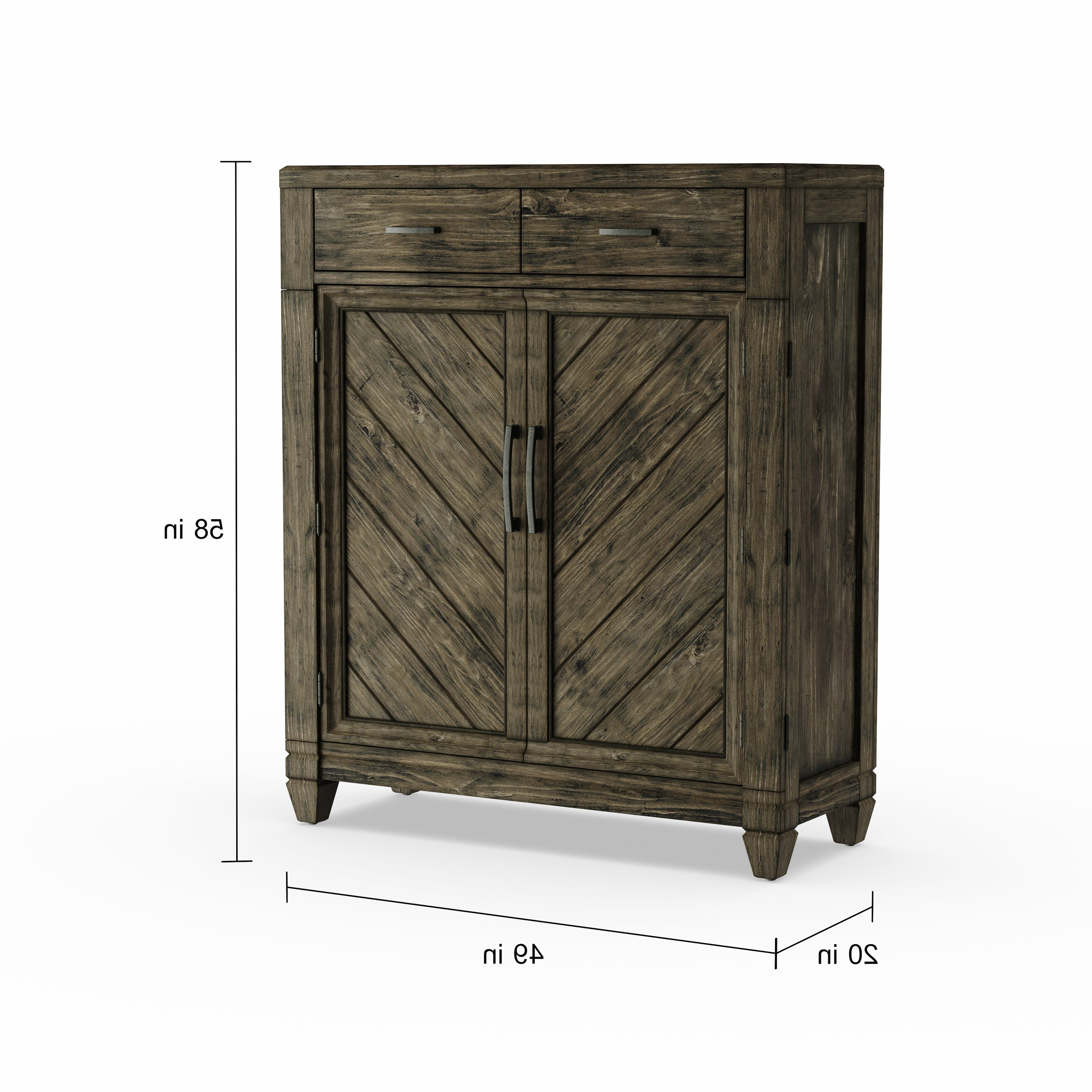 Malibu 2 Door 4 Drawer Sideboards For Trendy Liberty Baldwin Brown 2 Drawer/2 Door Chest (View 9 of 20)
