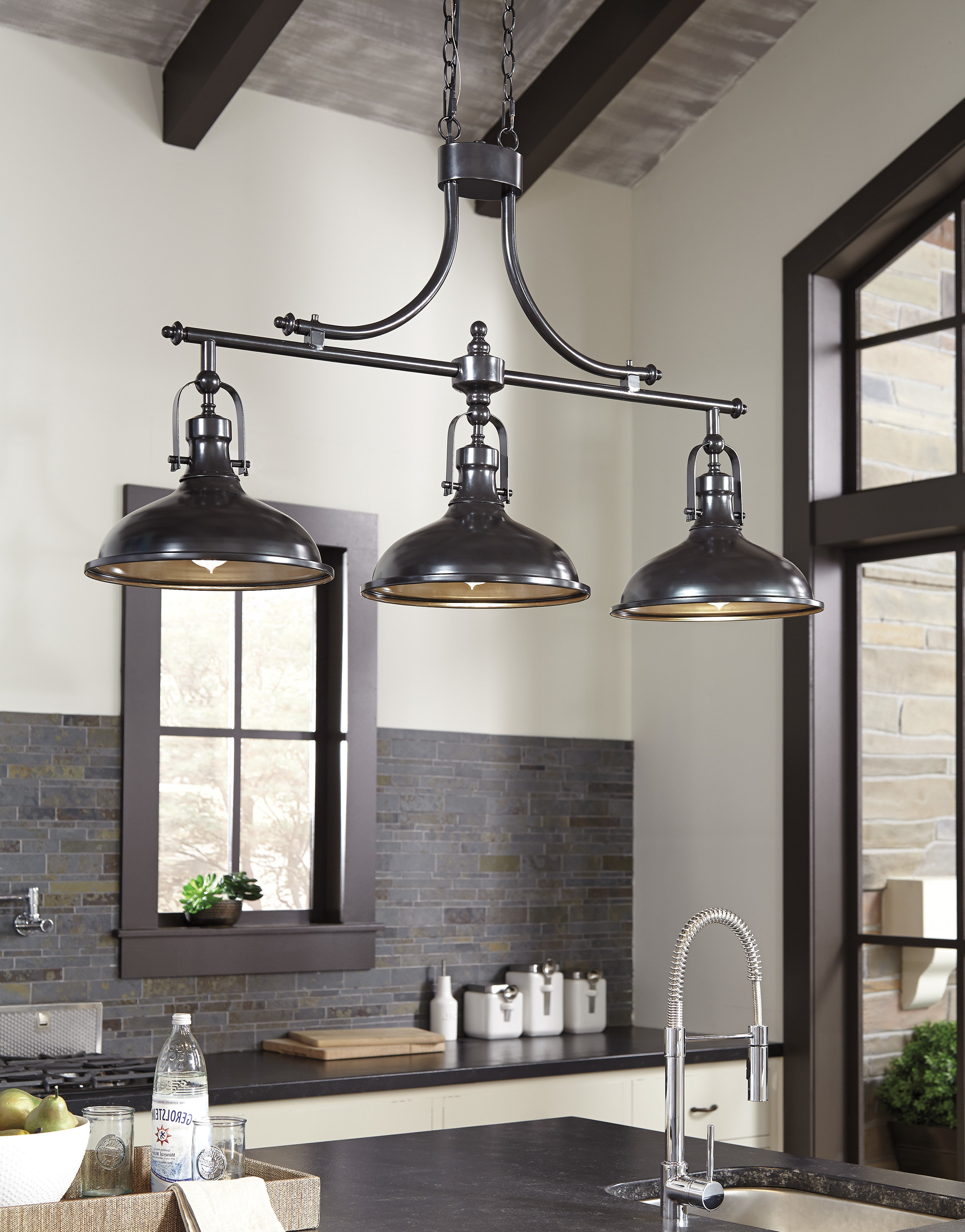 Martinique 3 Light Kitchen Island Dome Pendant With Regard To Best And Newest Fredela 3 Light Kitchen Island Pendants (View 12 of 20)