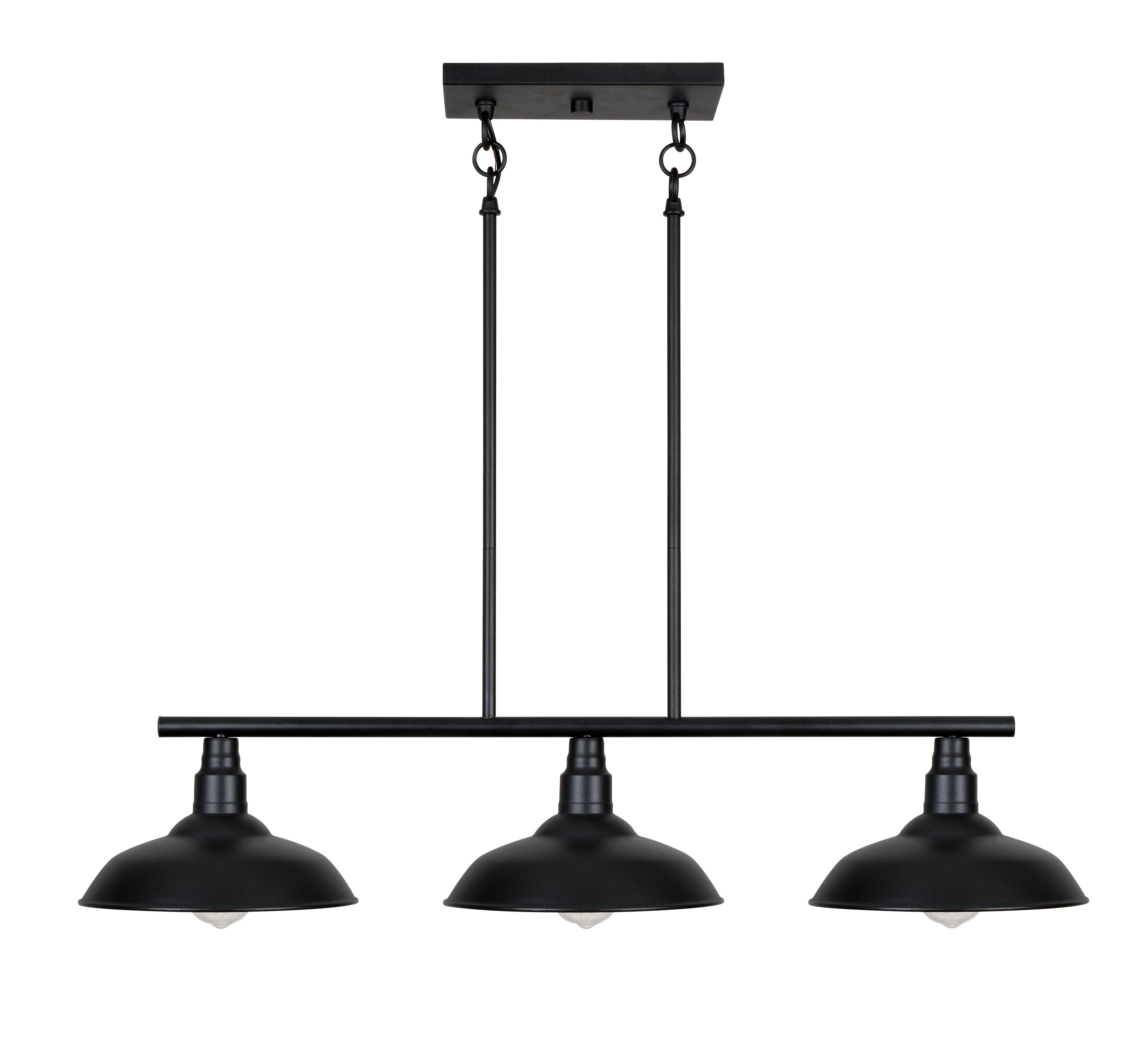 Martinique 3 Light Kitchen Island Dome Pendants Pertaining To Well Known Brummett 3 Light Kitchen Island Pendant (View 11 of 20)