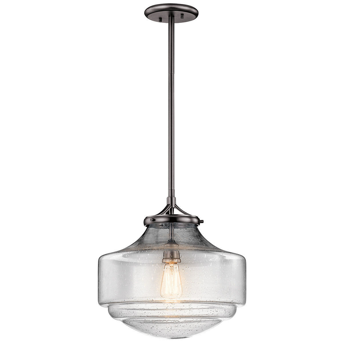 Marybeth 1 Light Schoolhouse Pendant With Most Up To Date Mueller 1 Light Single Dome Pendants (Gallery 17 of 20)