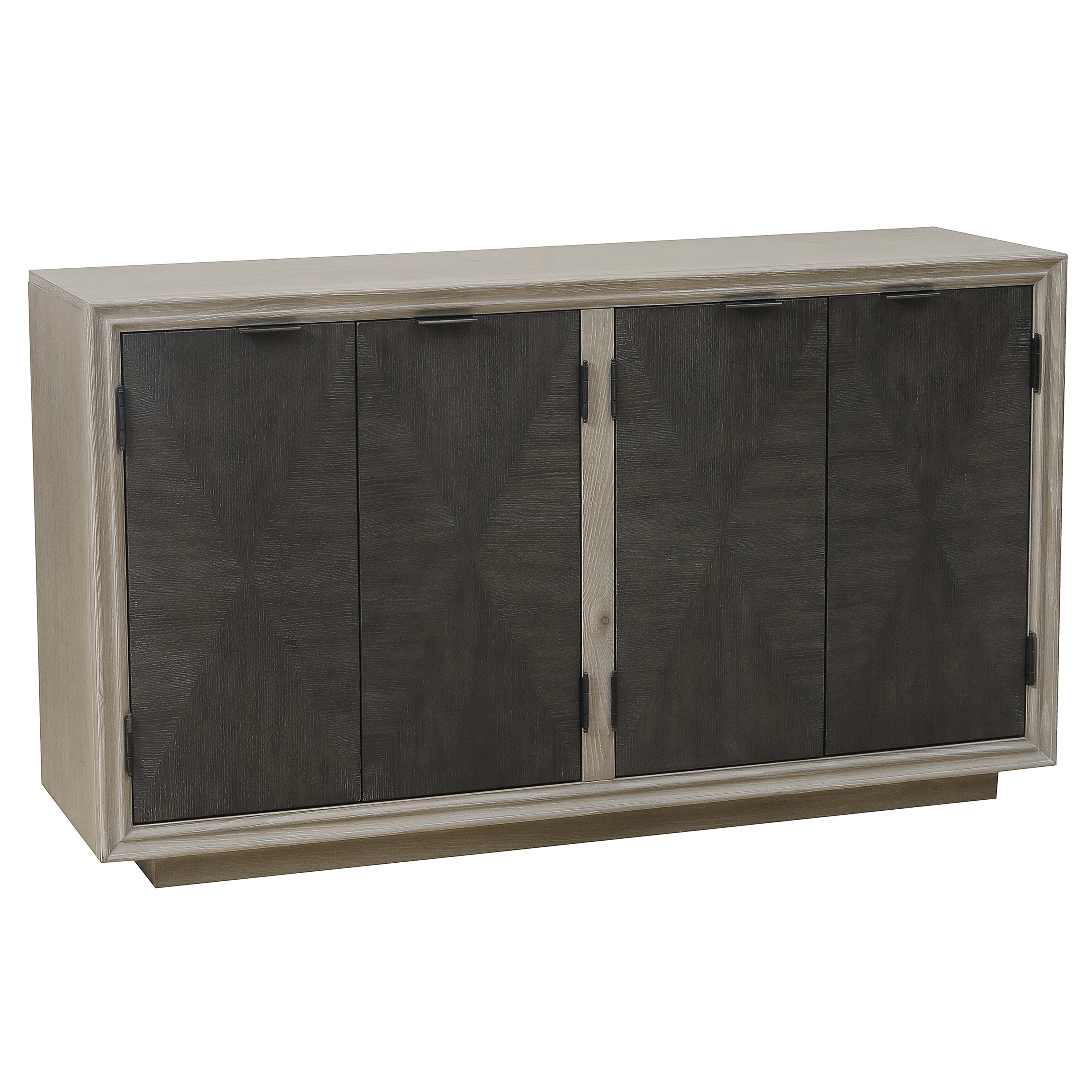 Massillon Sideboards Pertaining To Latest Hoover Four Door Duotone Parquet Sideboard (Gallery 8 of 20)