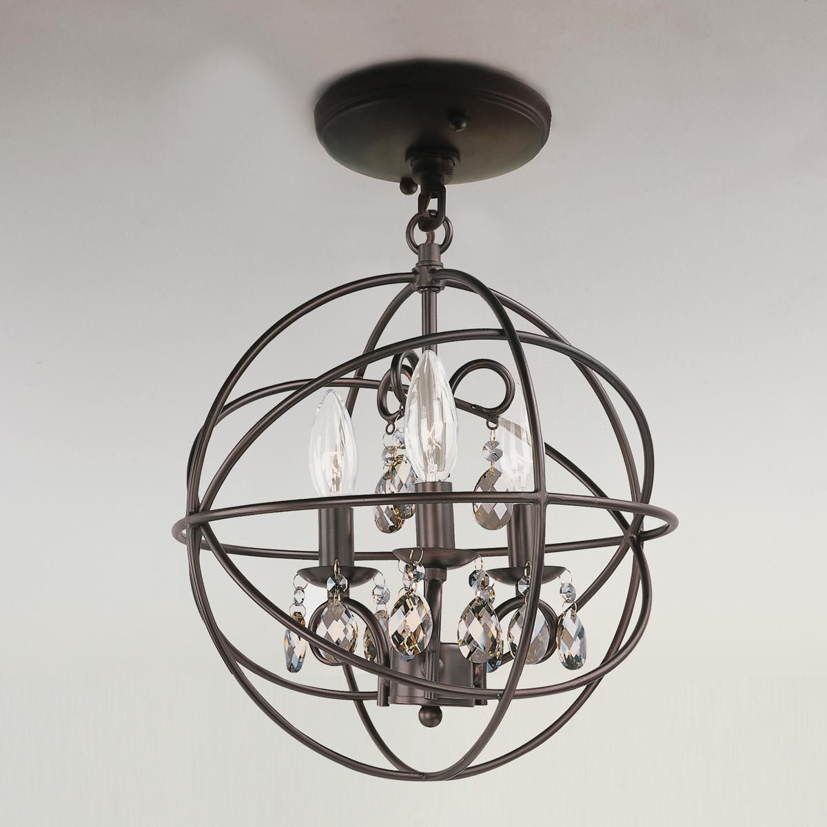 Master Intended For Fashionable La Sarre 3 Light Globe Chandeliers (View 14 of 20)