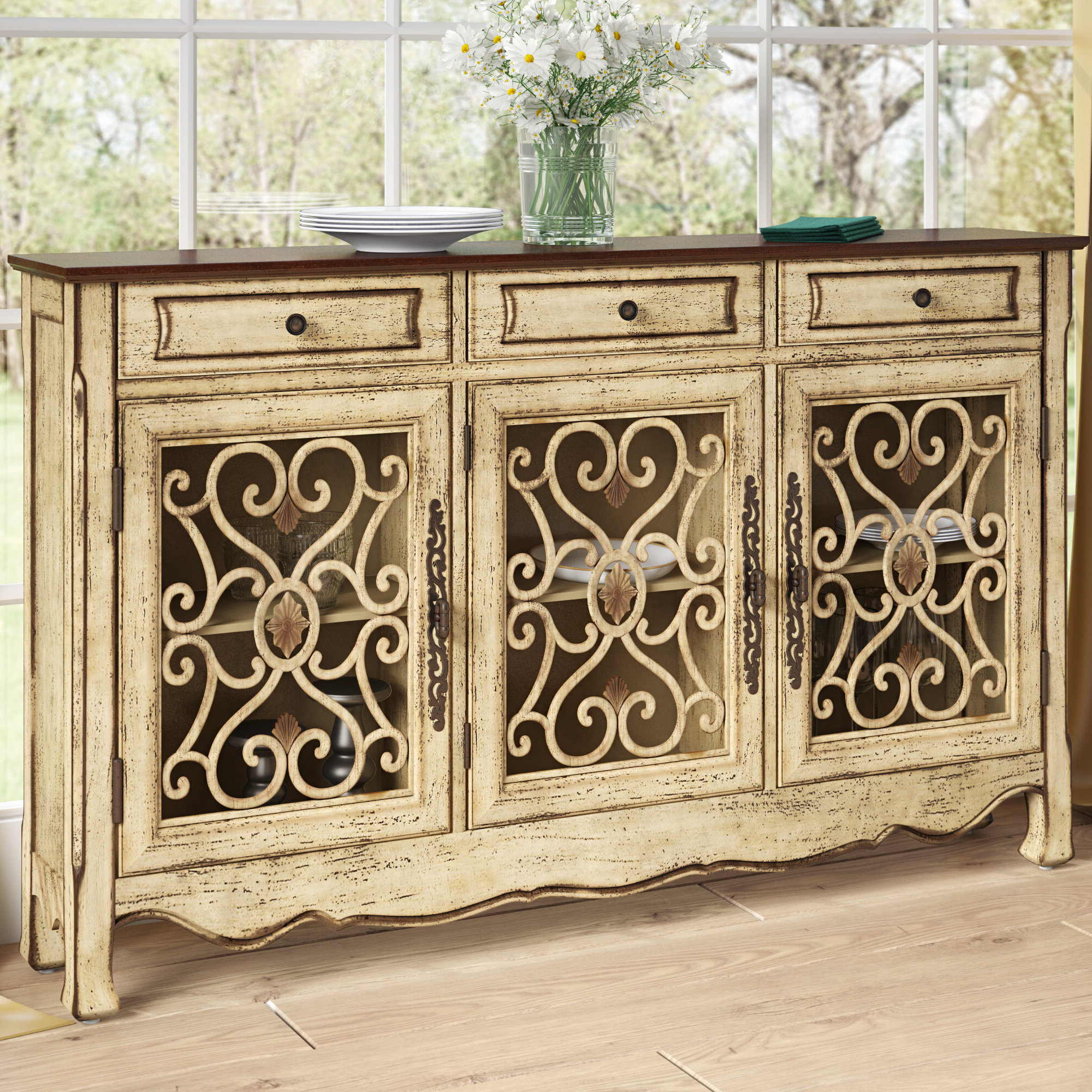Mauzy Sideboard Within Most Recent Ilyan Traditional Wood Sideboards (View 13 of 20)