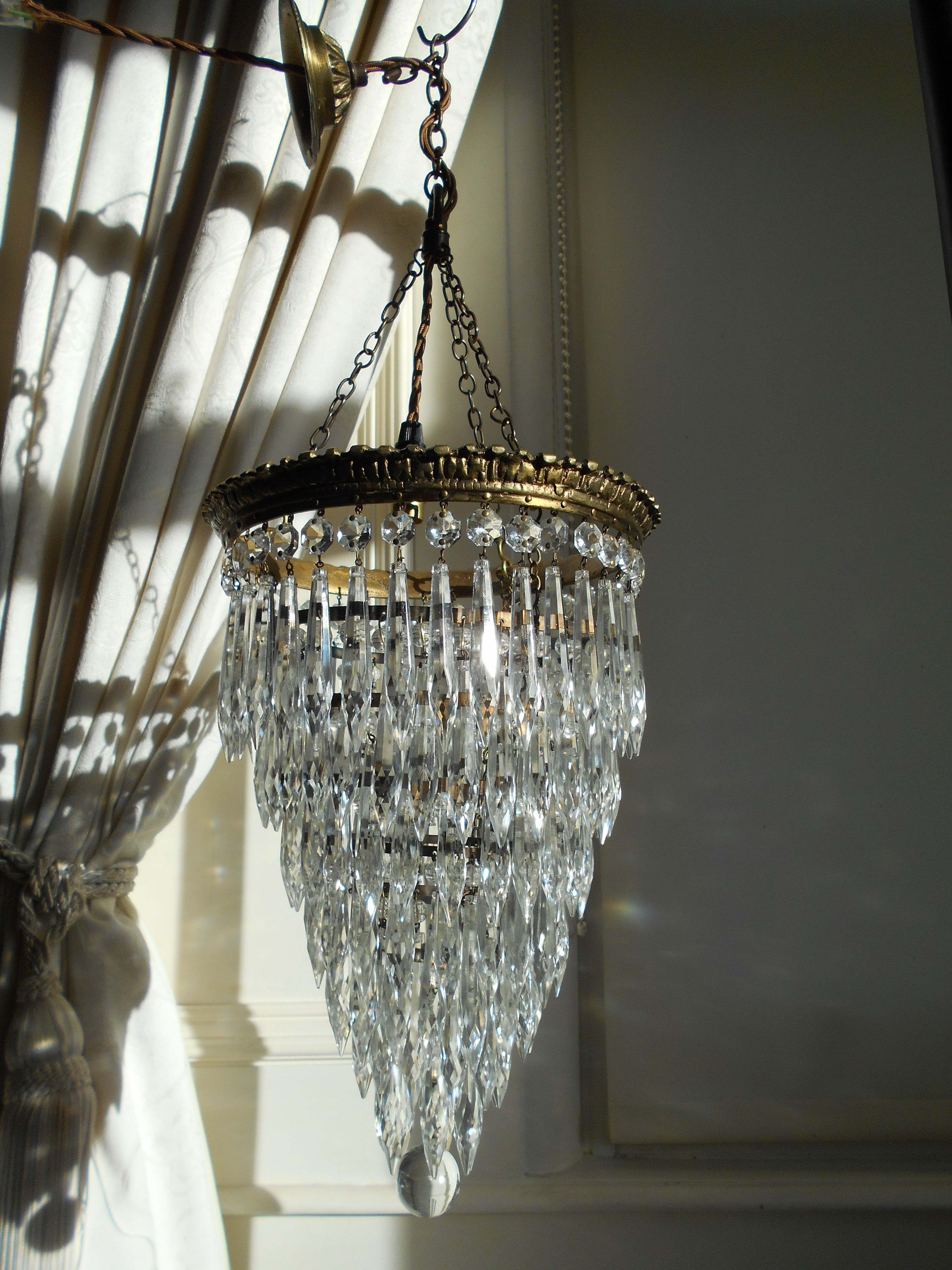 Mckamey 4 Light Crystal Chandeliers Within Fashionable Vintage French 7 Tier Crystal Waterfall Chandelier (View 15 of 20)