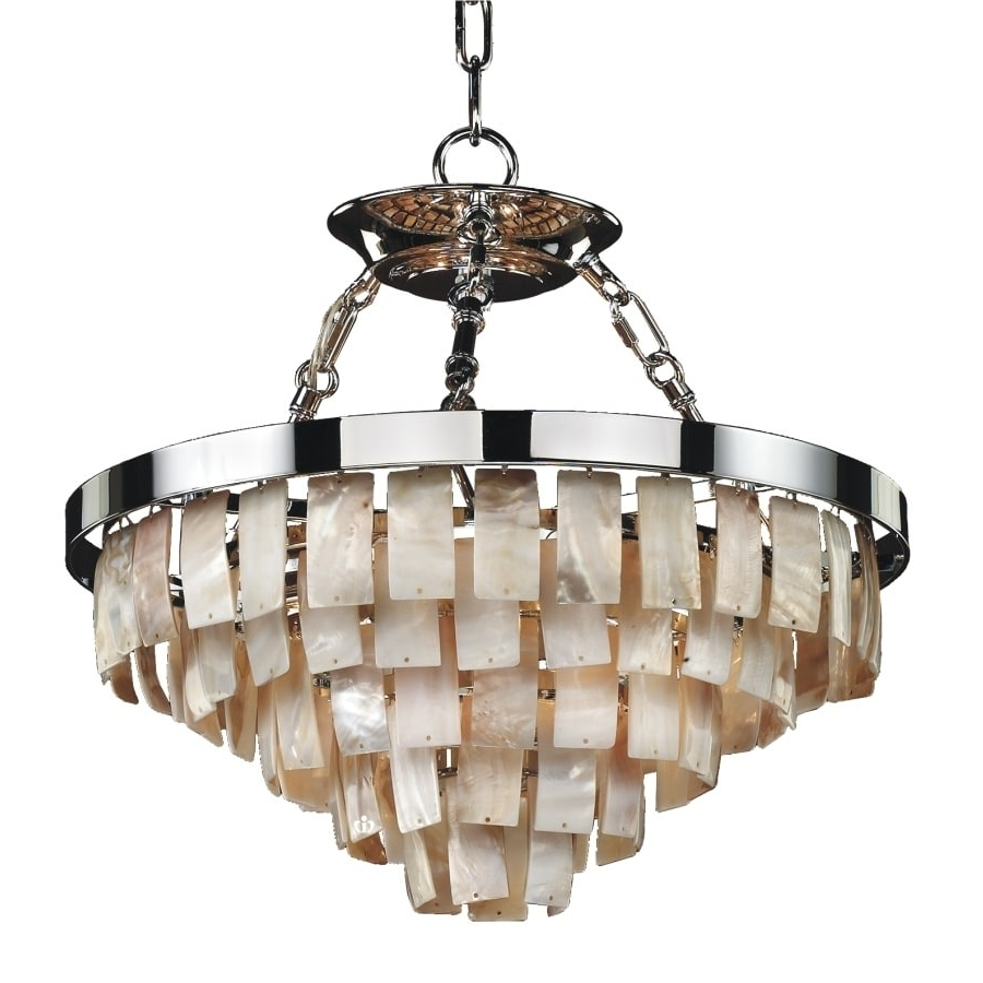 """Mcknight 9 Light Chandeliers In Preferred 16""""w Natural Shell Chandelier (La Jolla 619V 13 To 24 Inches (View 7 of 20)"""