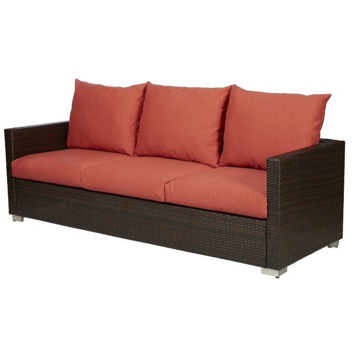 Mcmanis Patio Sofa With Cushion With Regard To Well Known Camak Patio Loveseats With Cushions (View 11 of 20)