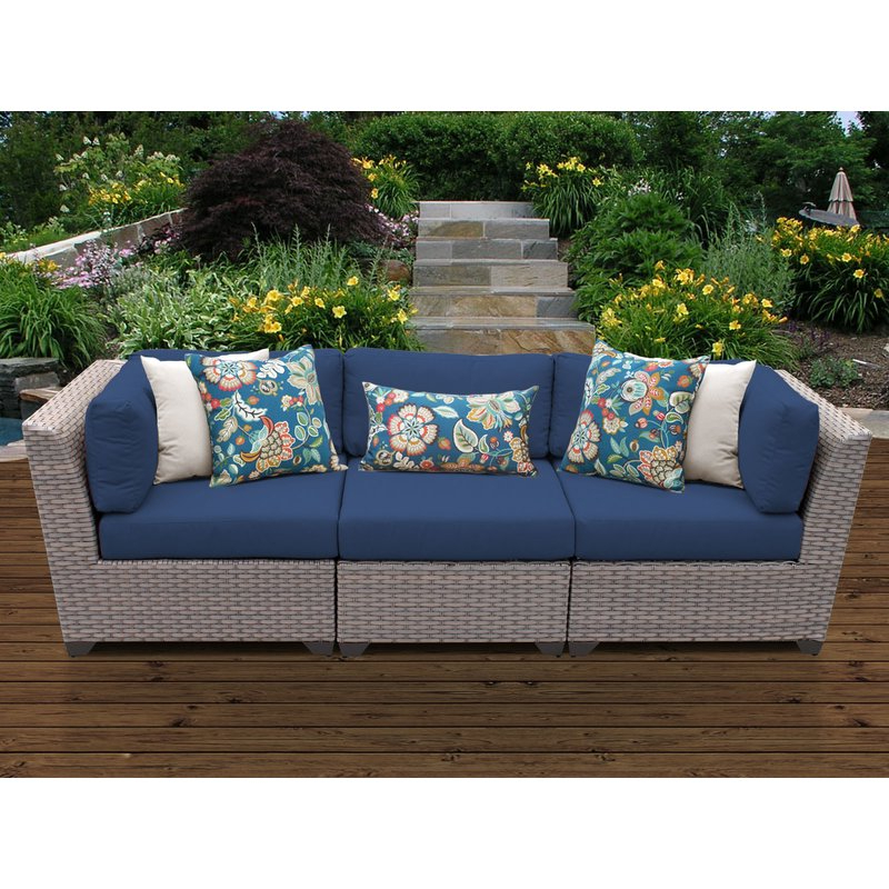 Meeks Patio Sofas With Cushions Throughout Best And Newest Meeks Patio Sofa With Cushions (Gallery 1 of 20)