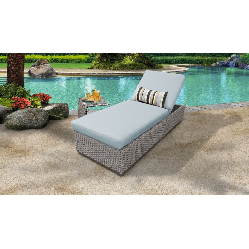 Meeks Patio Sofas With Cushions With Fashionable Meeks Outdoor Chaise Lounge Set With Cushion And Table (Gallery 3 of 20)