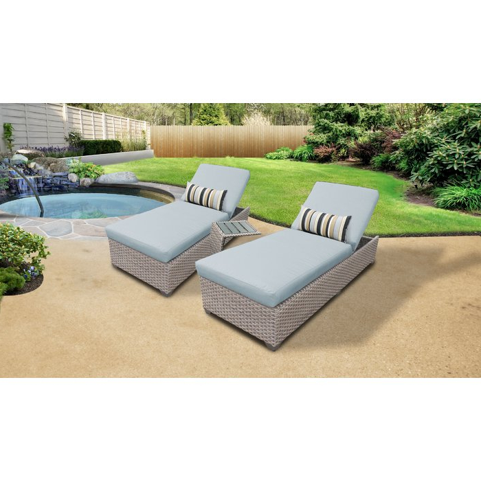 Meeks Patio Sofas With Cushions Within Most Up To Date Meeks Outdoor Chaise Lounge Set With Cushions And Table (View 11 of 20)