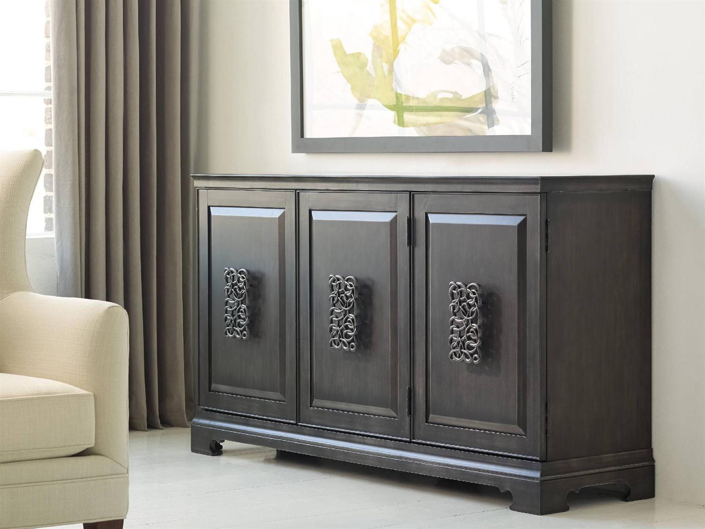 Melange Brockton Sideboards Regarding Most Popular Hooker Furniture Melange Charcoal Gray 64''l X 18''w Rectangular Brockton  Credenza Buffet (Gallery 2 of 20)