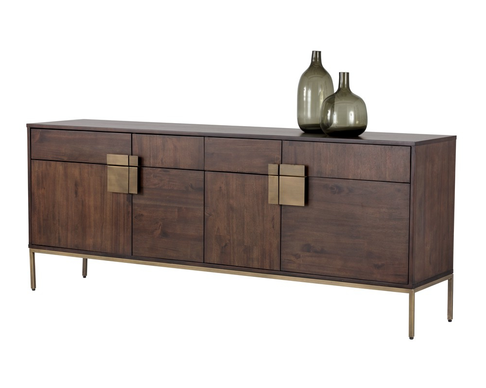 Metro Sideboards In Preferred Jade Sideboard – Antique Brass – Dark Mango (View 9 of 20)