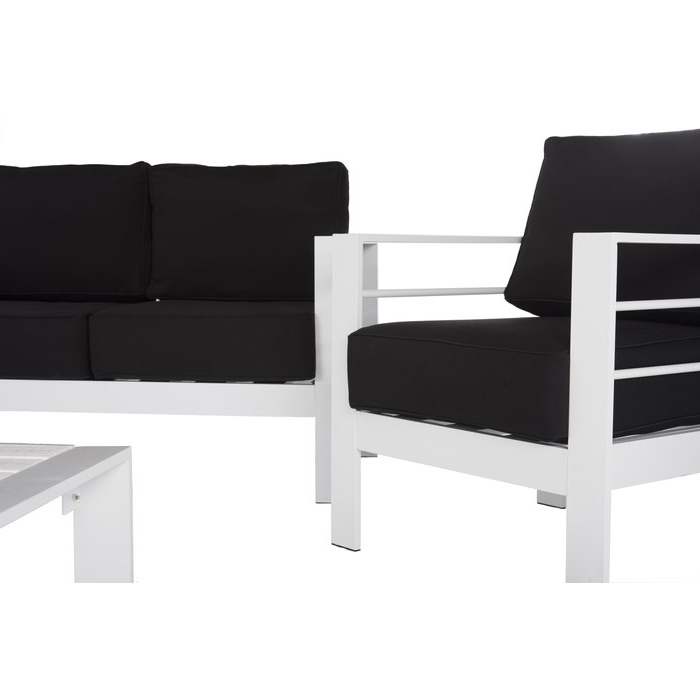 Michal 4 Piece Sofa Seating Group With Cushions Within Most Up To Date Michal Patio Sofas With Cushions (View 12 of 20)