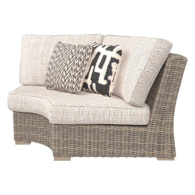 Michal Patio Sofas With Cushions With Preferred Outdoor Signature Designashley Beachcroft Curved Corner (View 9 of 20)