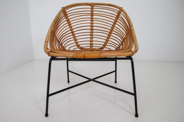 Mid Century Rattan, Wicker & Iron Patio Chair, 1960S Regarding Favorite Rowley Patio Sofas Set With Cushions (Gallery 18 of 20)