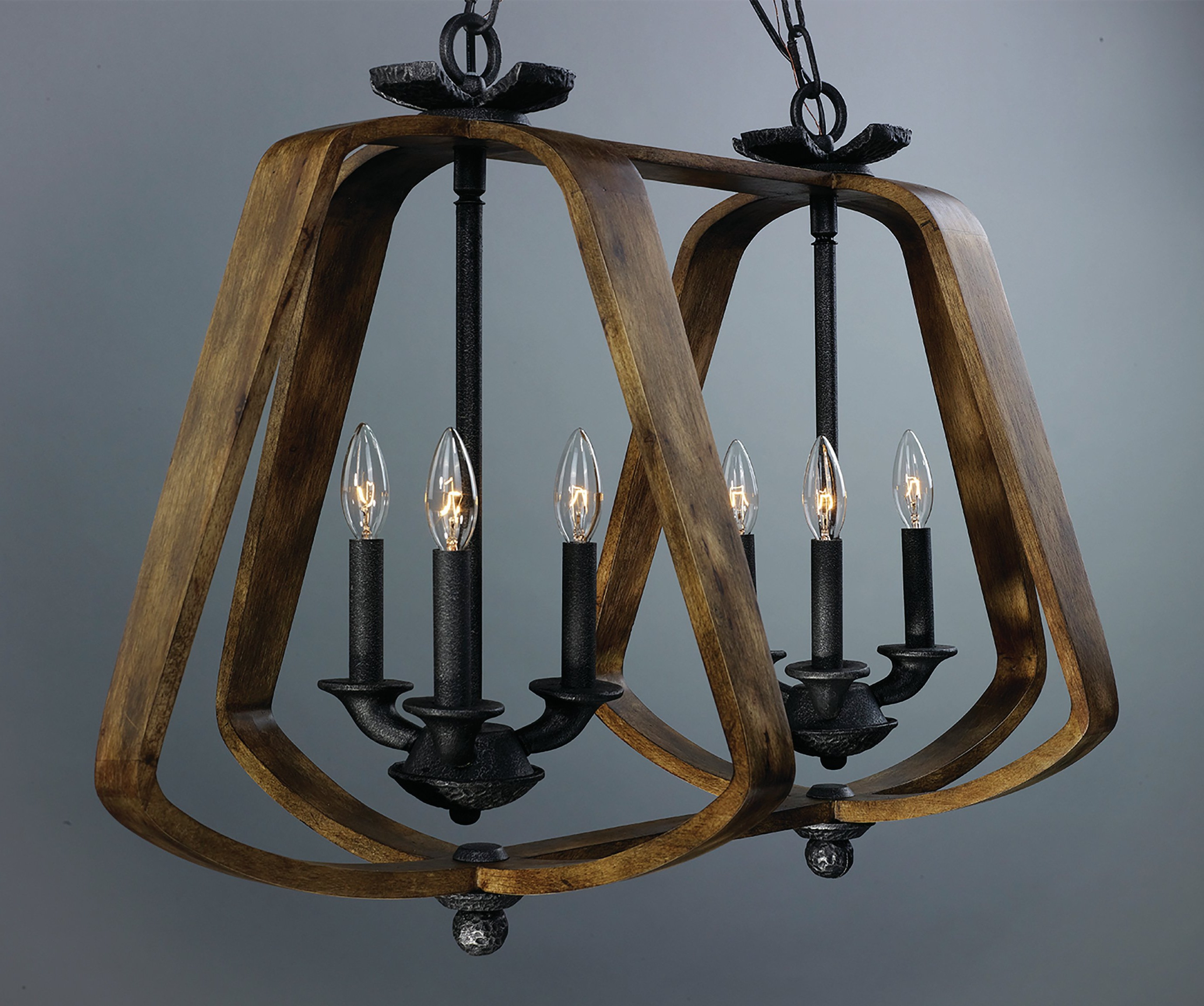 Millbrook 5 Light Shaded Chandeliers Pertaining To Best And Newest Calana 6 Light Geometric Chandelier (View 12 of 20)