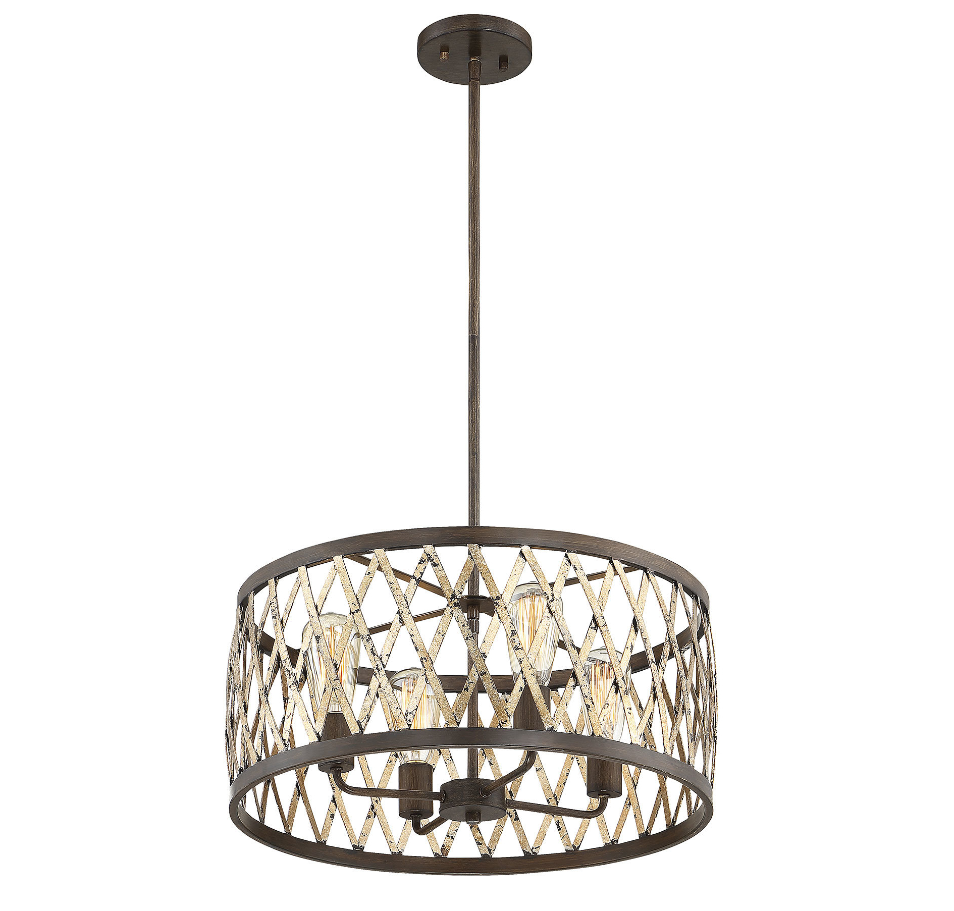 Millwood Pines Anakin 4 Light Drum Chandelier For Latest Vincent 5 Light Drum Chandeliers (Gallery 19 of 20)