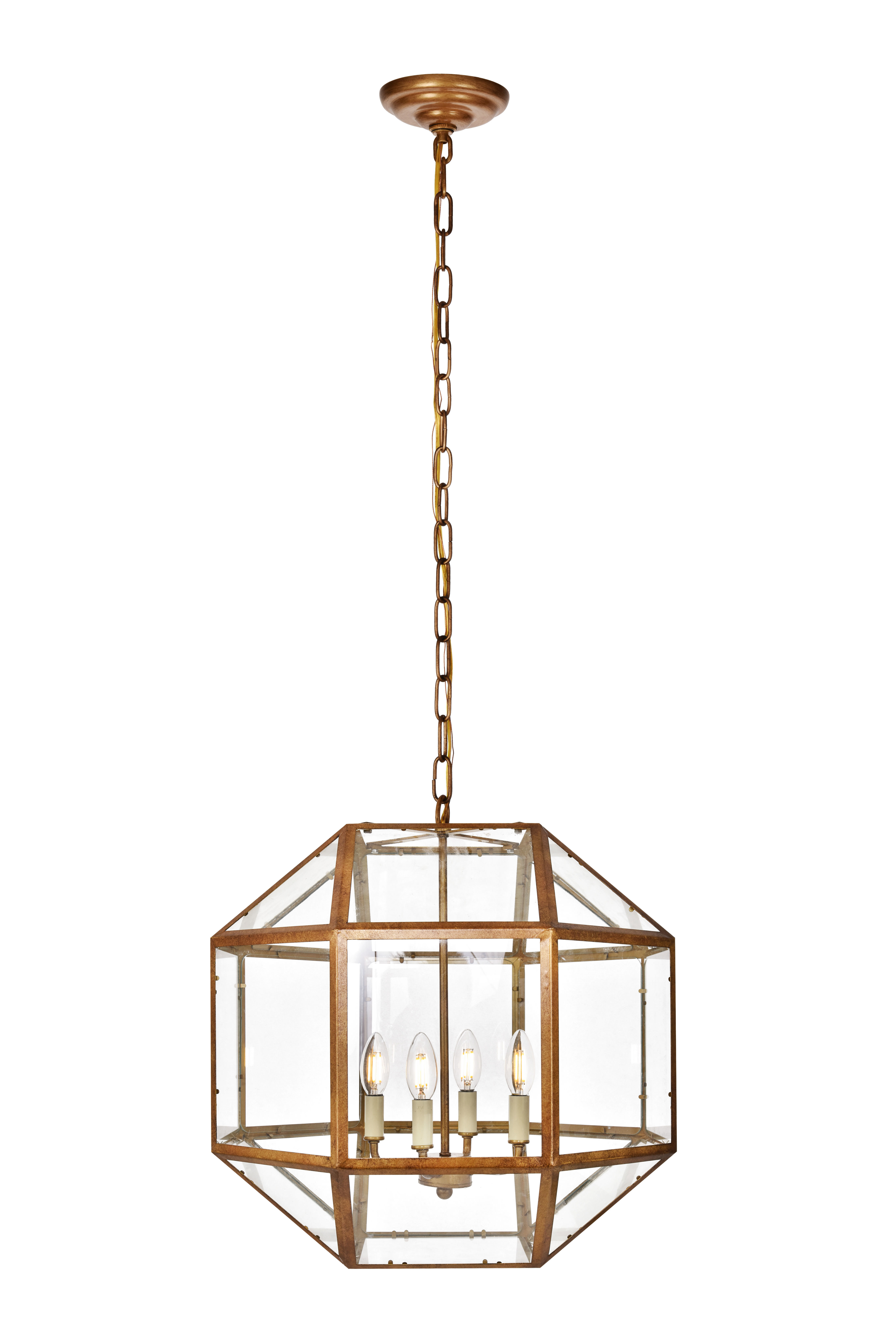 Modern & Contemporary Henry 4 Light Chandelier (View 8 of 20)