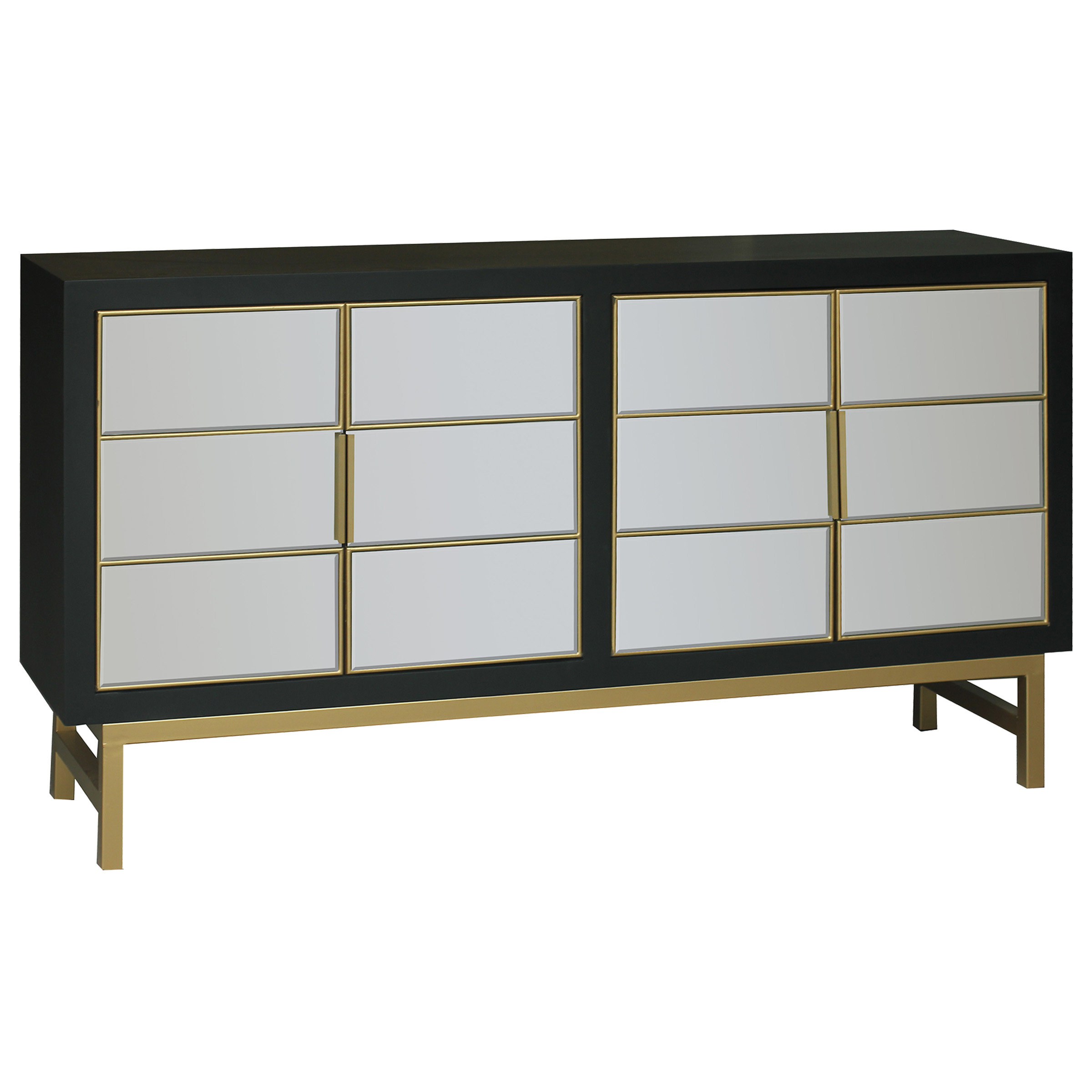 Modern & Contemporary Kieth 4 Door Credenza (View 11 of 20)