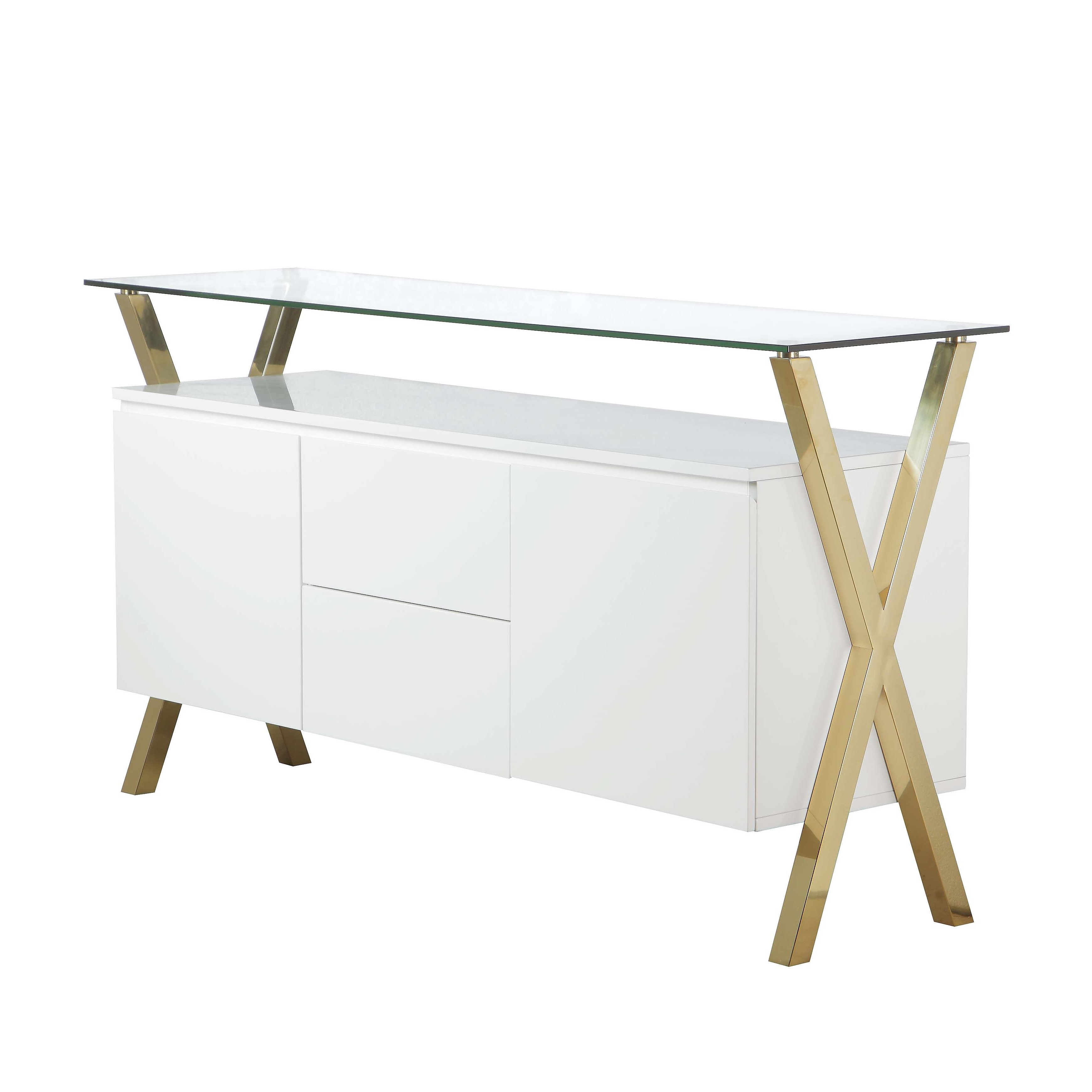 Modern & Contemporary White Lacquer Sideboard (View 10 of 20)