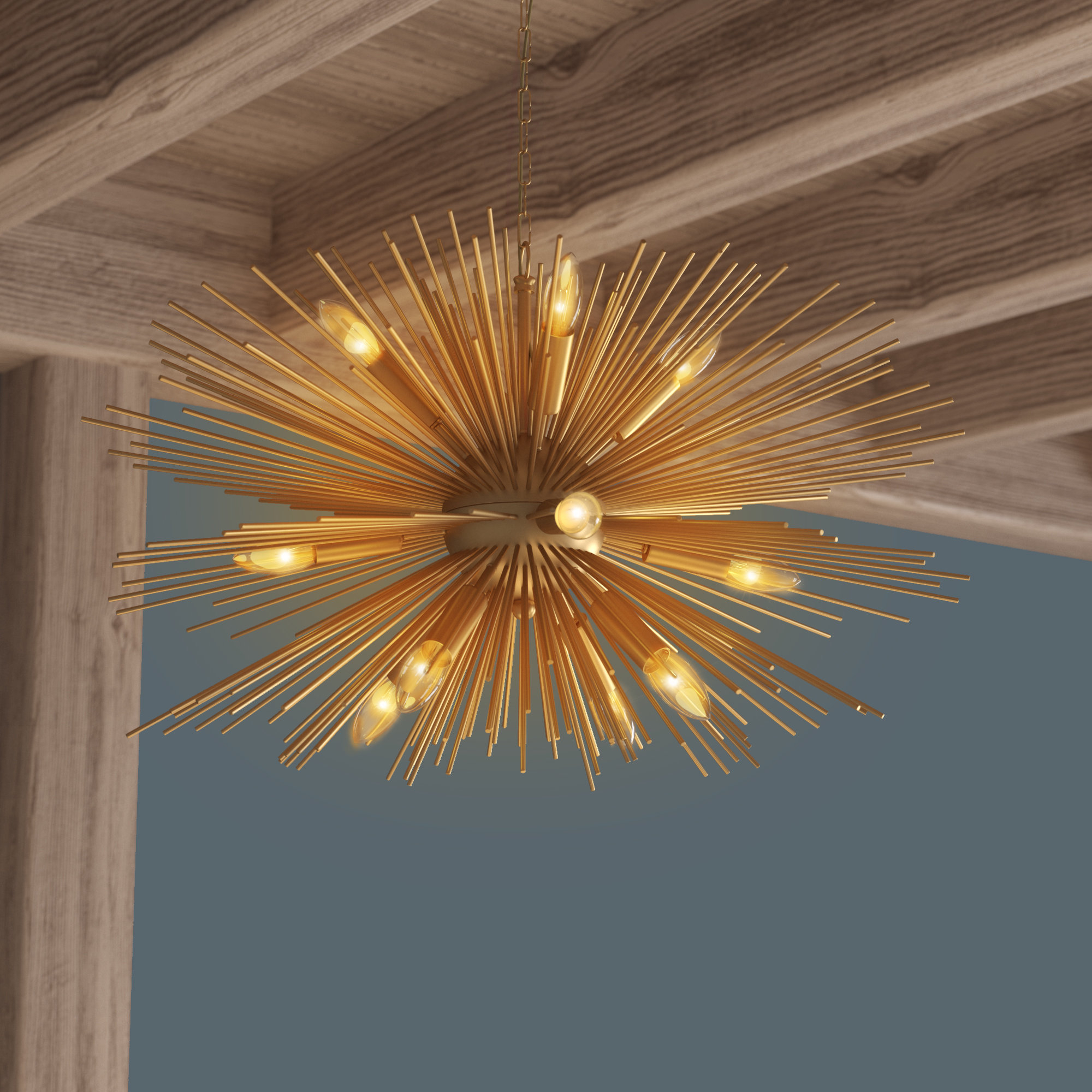 Modern Rustic Interiors Nelly 12 Light Sputnik Chandelier Regarding Recent Nelly 12 Light Sputnik Chandeliers (View 5 of 20)