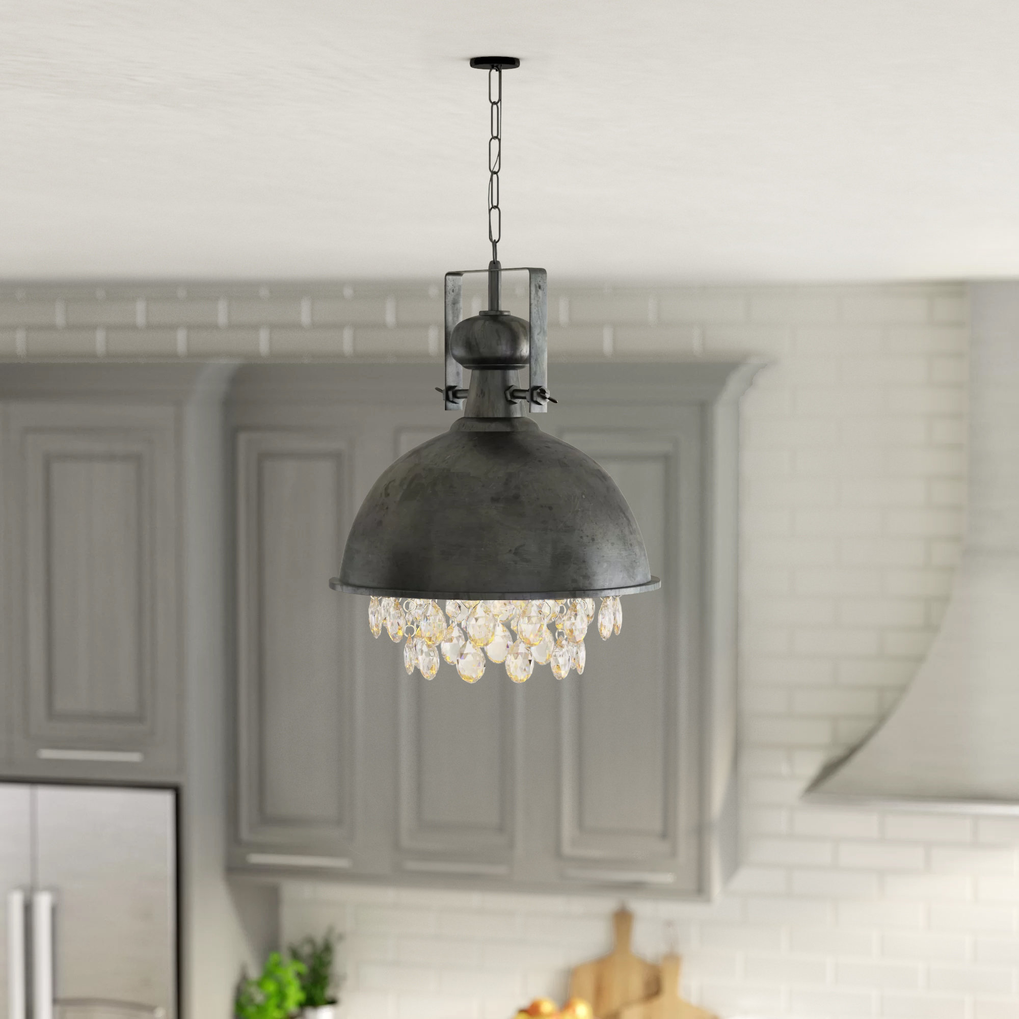 Monadnock 1 Light Single Dome Pendants Inside Best And Newest Rosenbloom 1 – Light Dome Pendant (View 10 of 20)
