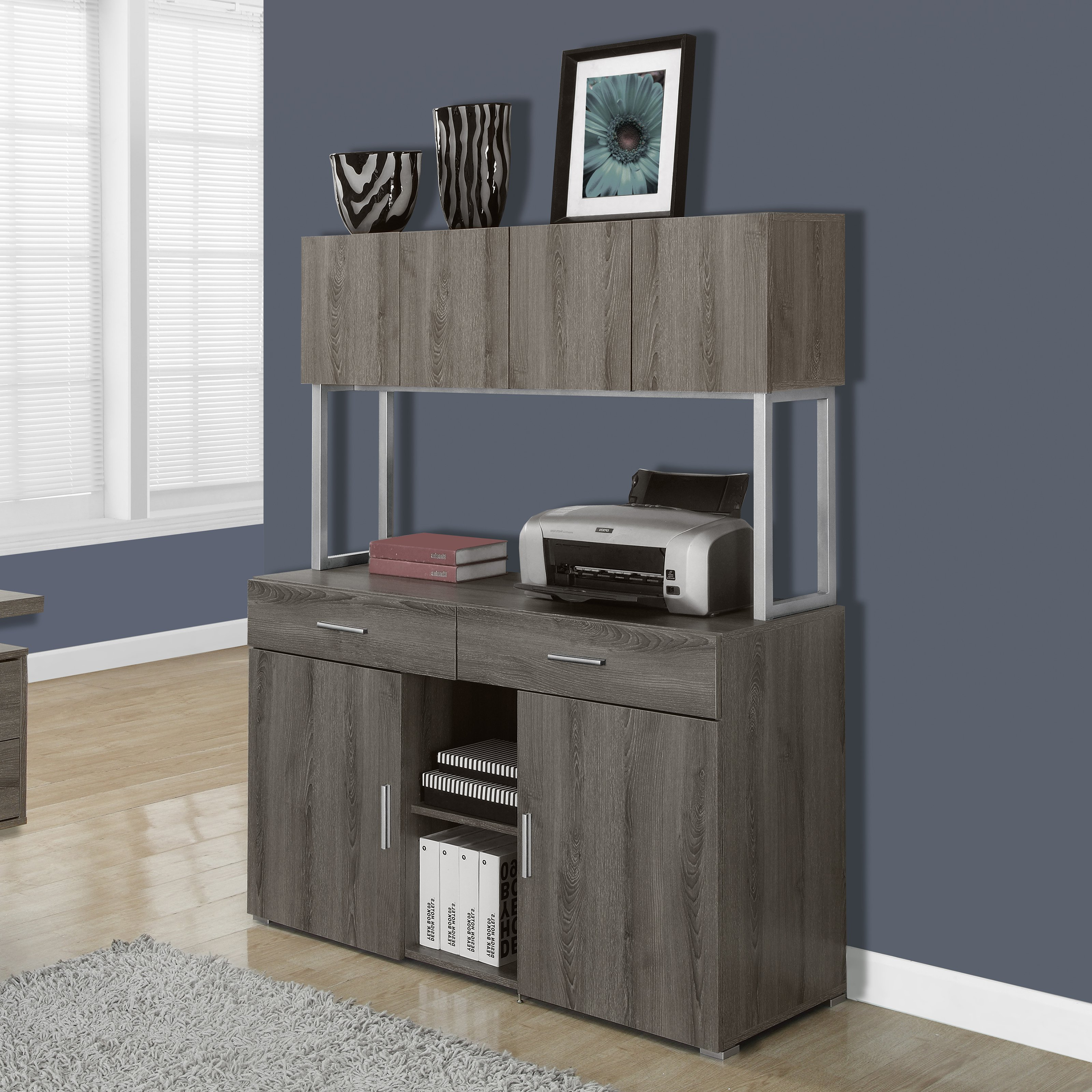 Monarch Specialties Office Cabinet With Storage Credenza Pertaining To Latest Caines Credenzas (View 9 of 20)