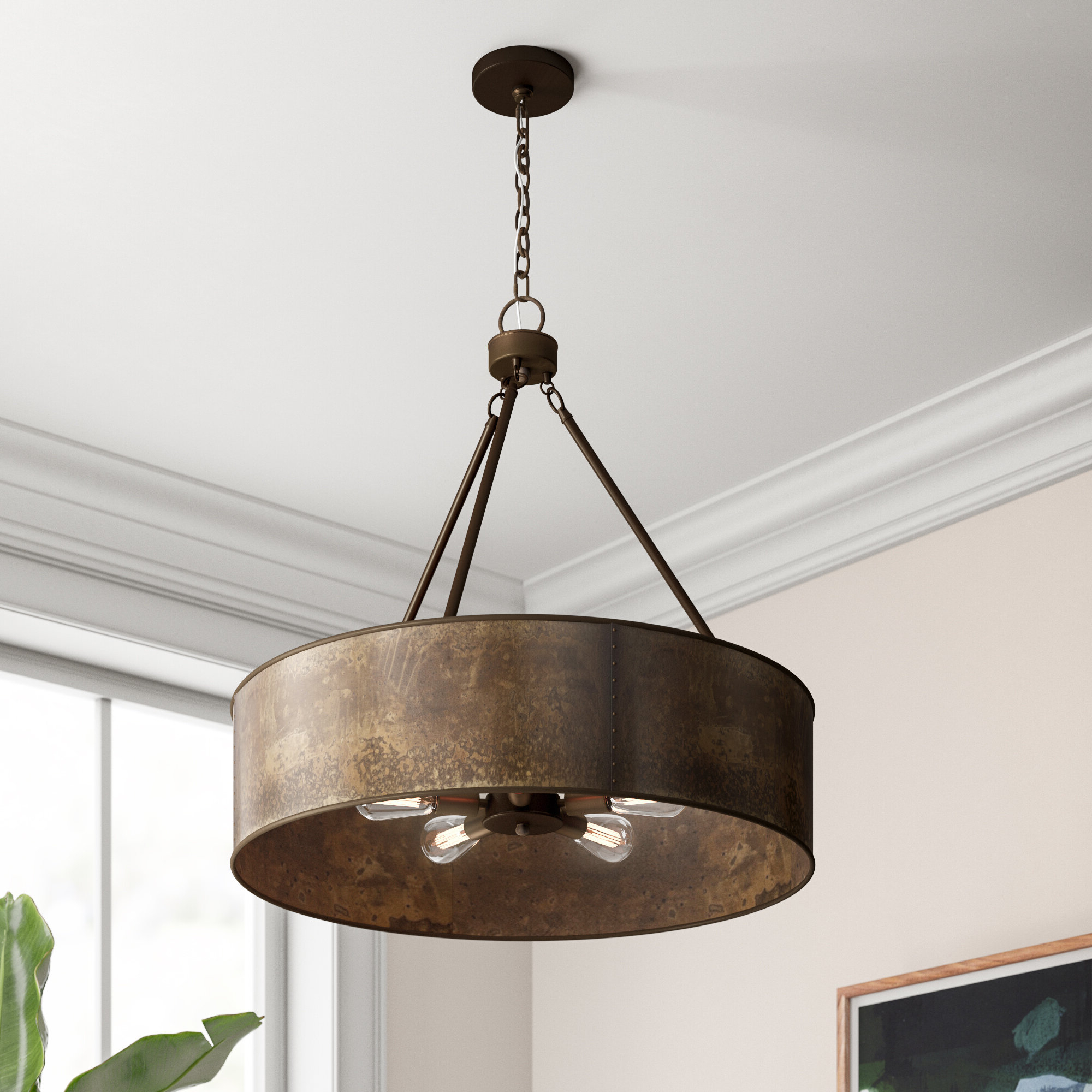 Montes 3 Light Drum Chandeliers Within Most Recently Released Vincent 5 Light Drum Chandelier (Gallery 11 of 20)