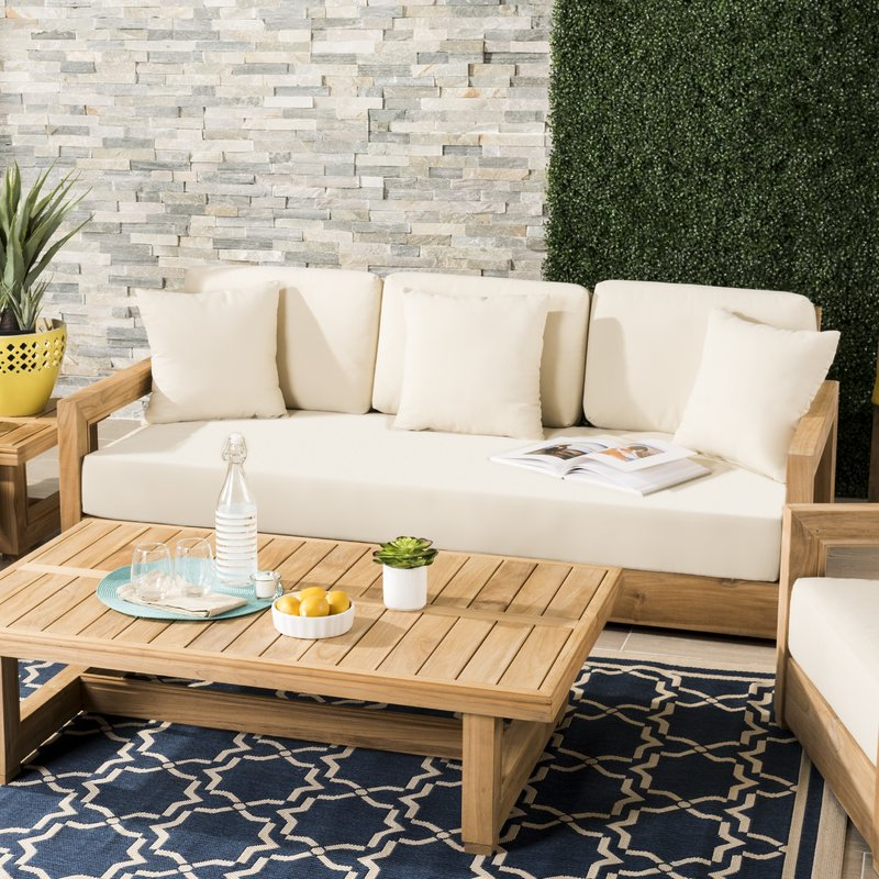 Montford Teak Loveseats With Cushions In Preferred Montford Teak Loveseat With Cushions (View 11 of 20)