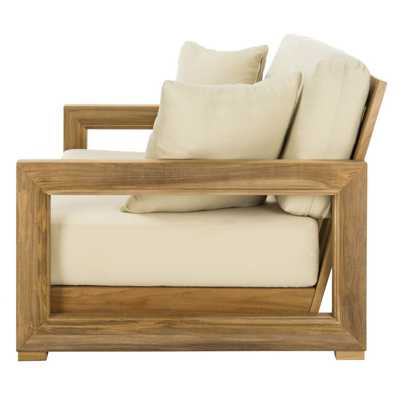 Montford Teak Loveseats With Cushions With 2020 Montford Teak Loveseat With Cushions (View 14 of 20)