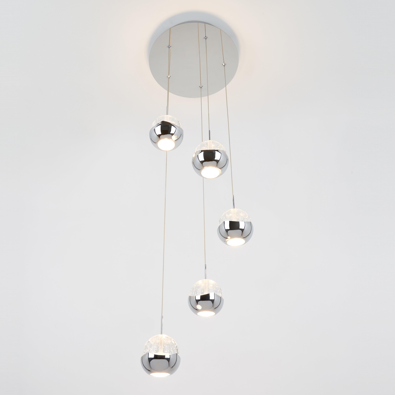 Moorcroft 5 Light Led Cluster Pendant Inside Popular Zachery 5 Light Led Cluster Pendants (Gallery 2 of 20)
