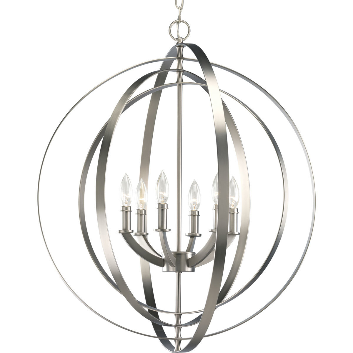 Morganti 4 Light Chandeliers With Most Recently Released Morganti 6 Light Globe Chandelier (View 9 of 20)