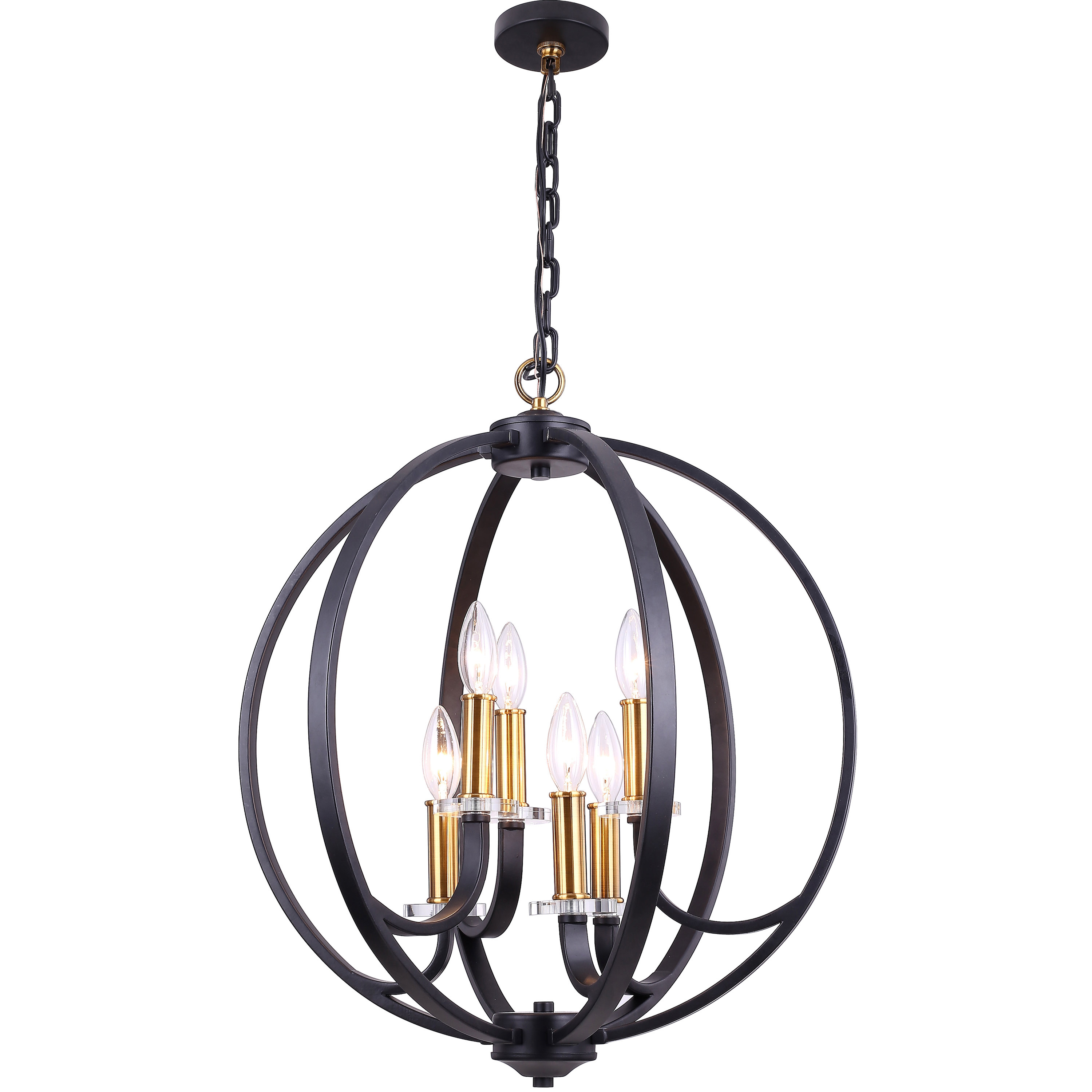 Morganti 4 Light Chandeliers Within Best And Newest Camelon 6 Light Globe Chandelier (View 14 of 20)