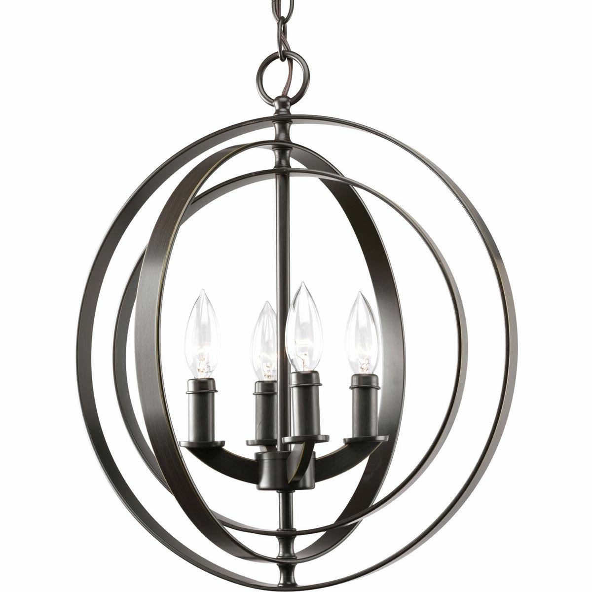 Morganti Foyer 4 Light Globe Chandelier Throughout Current Morganti 4 Light Chandeliers (View 4 of 20)