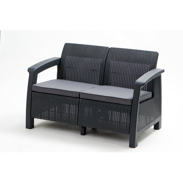 Mosca Patio Loveseats With Cushions Intended For Latest Berard Patio Loveseat With Cushions (Gallery 16 of 20)