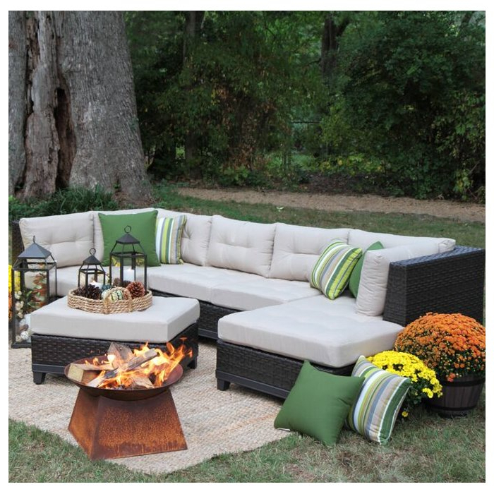 Most Current 4 Piece Sierra Sunbrella Seating Group Pertaining To Jamarion 4 Piece Sectionals With Sunbrella Cushions (Gallery 8 of 20)