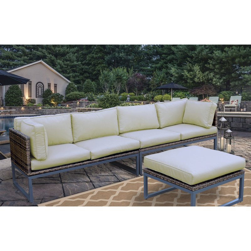 Most Current Avadi Outdoor Sofas & Ottomans 3 Piece Set Pertaining To Outdoor Sofa And Ottoman – Budapestsightseeing (Gallery 12 of 20)
