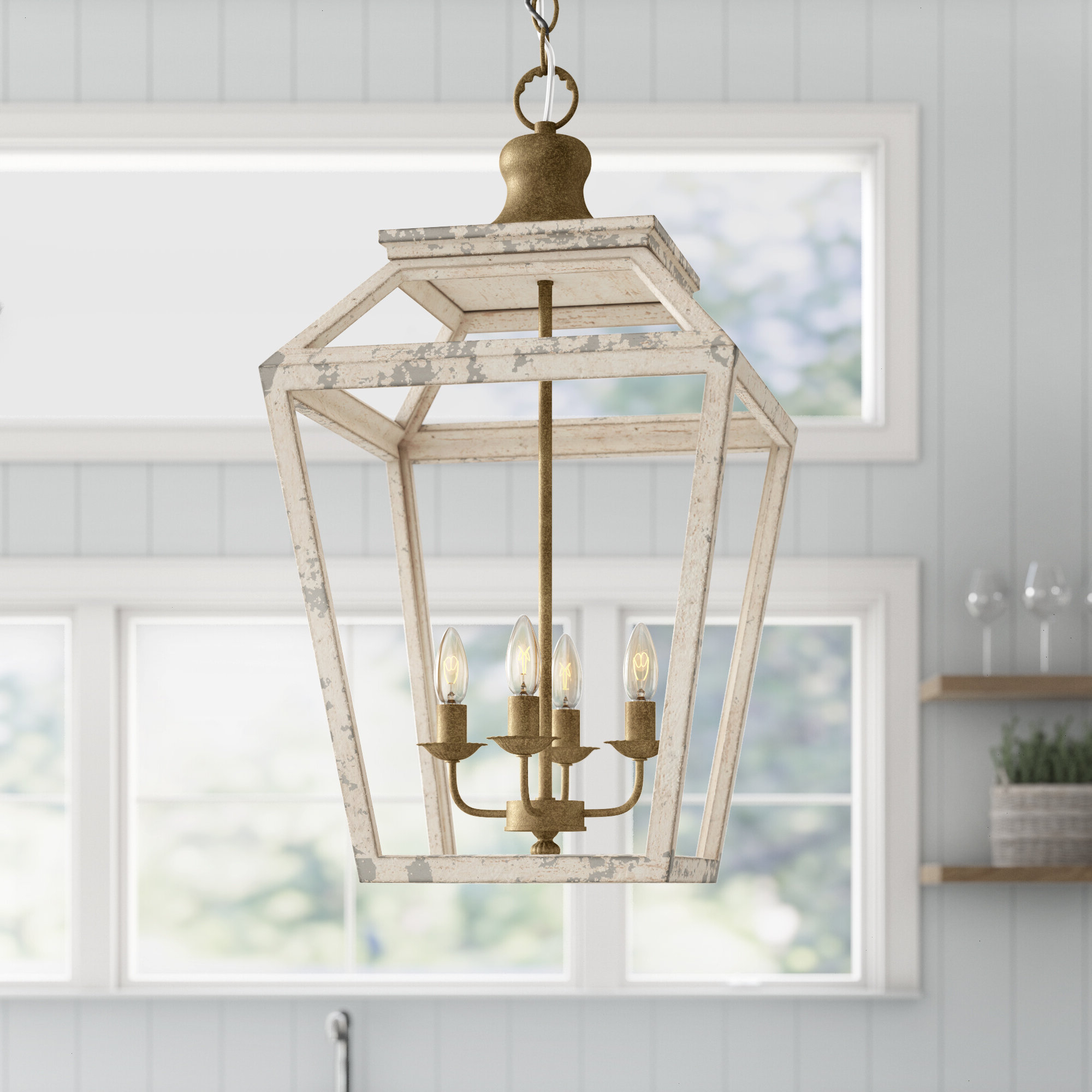 Most Current Baugher 4 Light Lantern Geometric Pendant Throughout Carmen 4 Light Lantern Geometric Pendants (View 18 of 20)