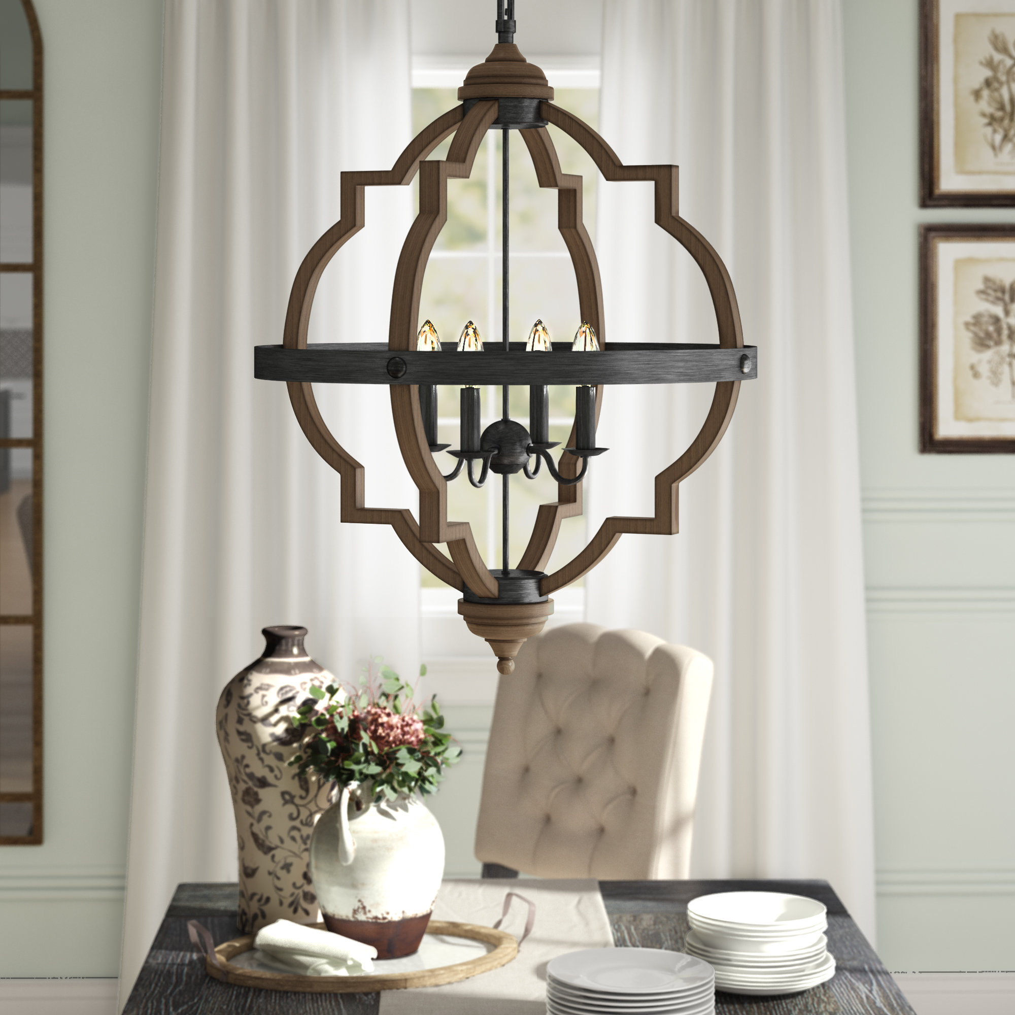 Most Current Bennington 6 Light Candle Style Chandeliers With Regard To Bennington 4 Light Candle Style Chandelier (Gallery 10 of 20)