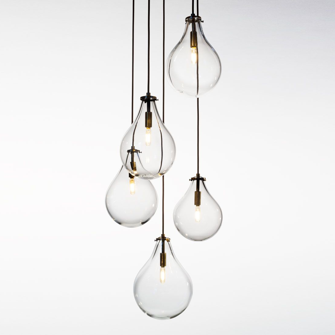 Most Current Berenice 3 Light Cluster Teardrop Pendants In Teardrop Chandelier (View 16 of 20)