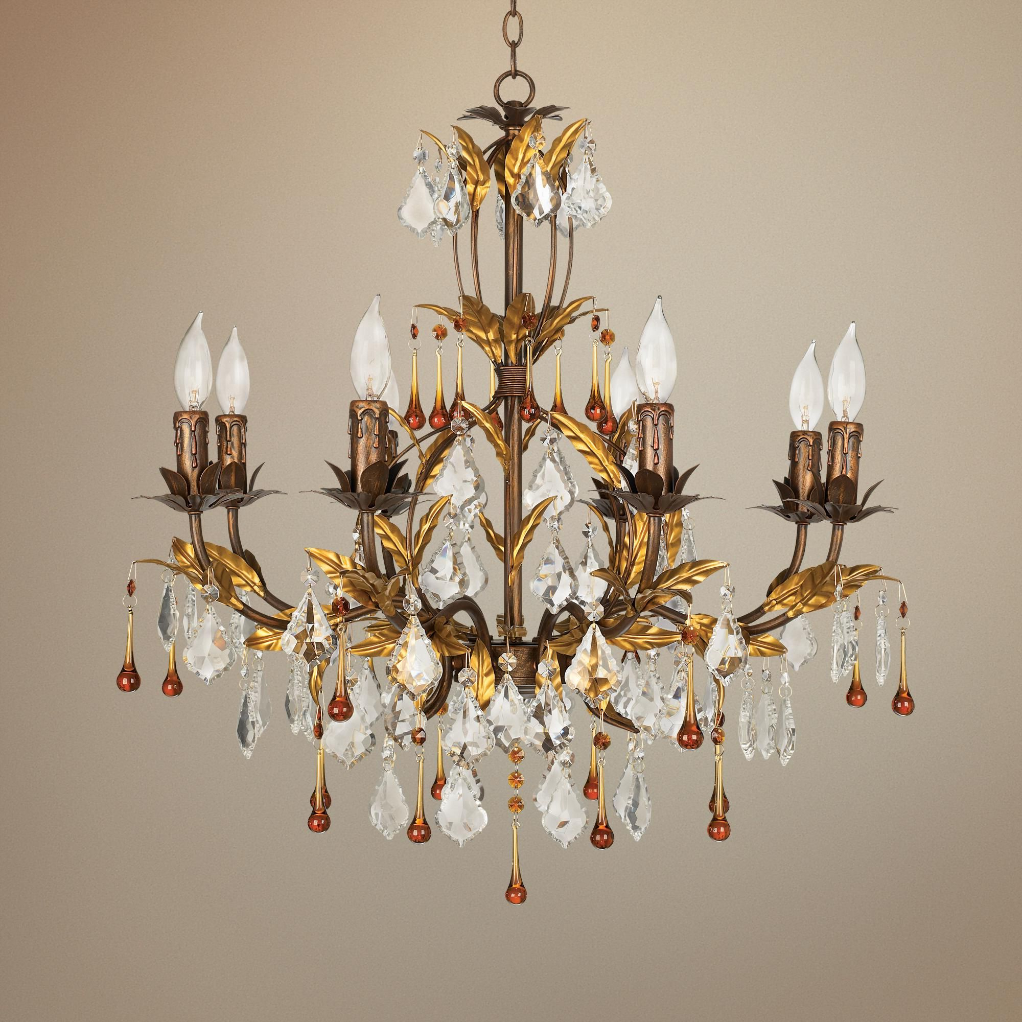 """Most Current Blanchette 5 Light Candle Style Chandeliers In Kathy Ireland Venezia Gold 8 Light 26"""" Wide Chandelier (View 13 of 20)"""
