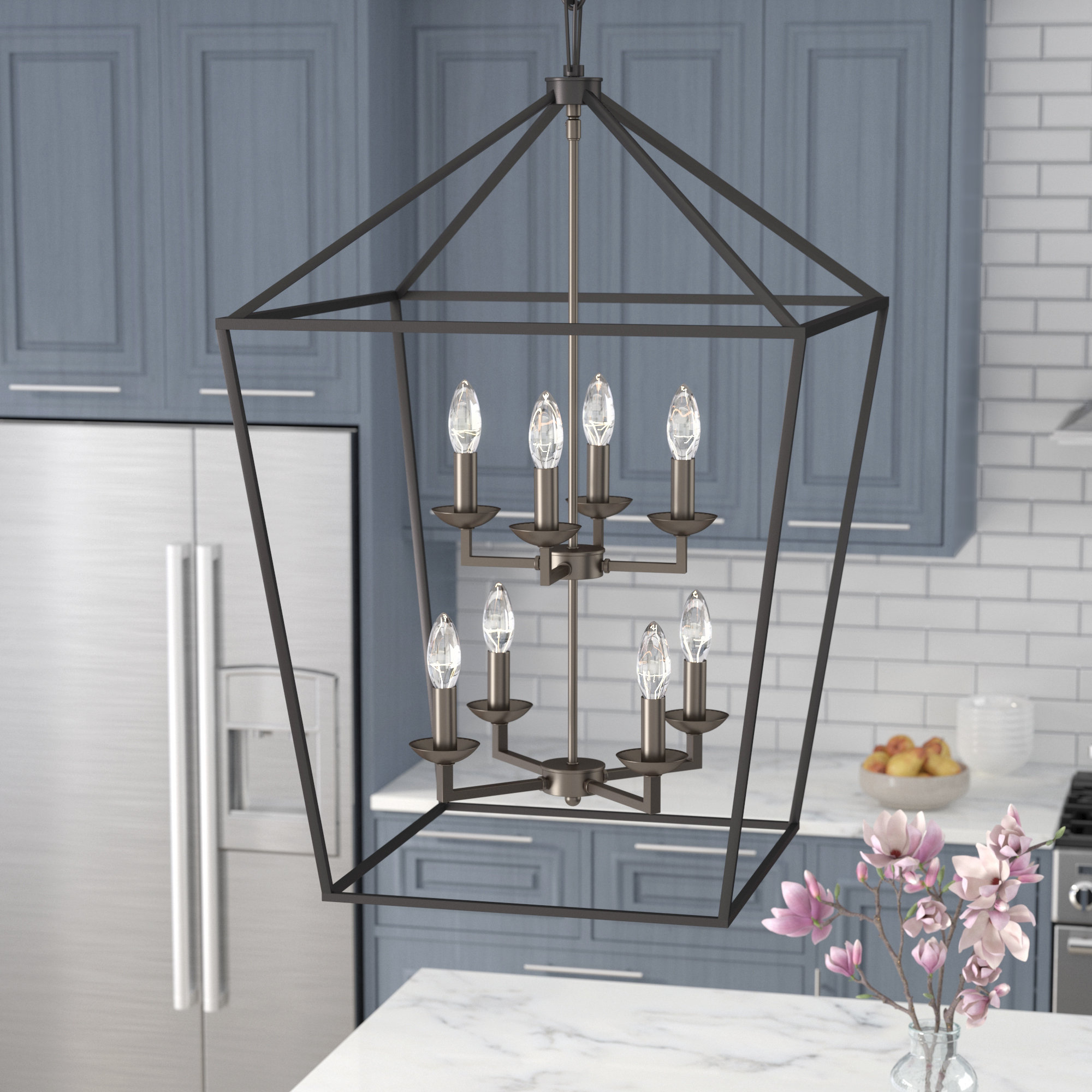 Most Current Carmen 8 Light Lantern Tiered Pendants Inside Carmen 8 Light Lantern Tiered Pendant (View 1 of 20)
